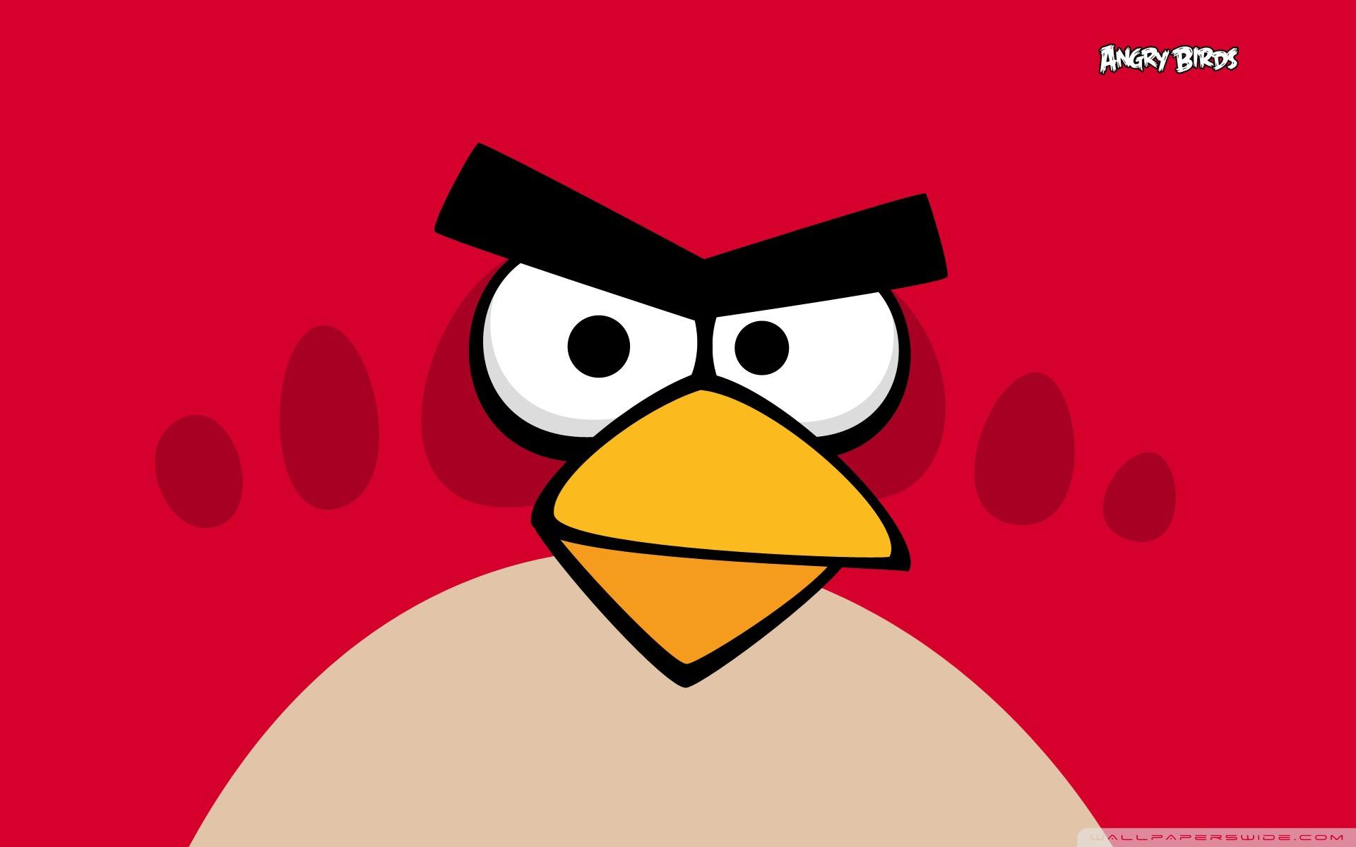 Angry Birds - Red Bird HD Wide Wallpaper for Widescreen