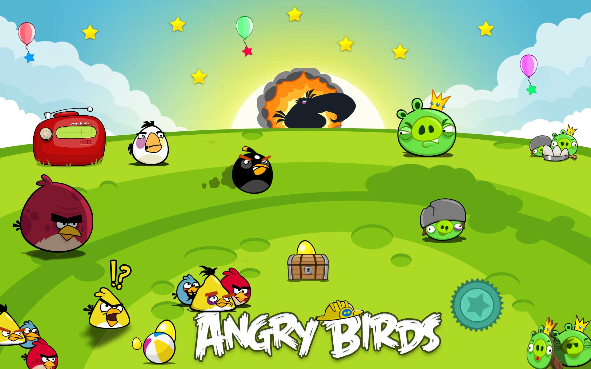 1 (10 Awesome Angry Birds Wallpapers)