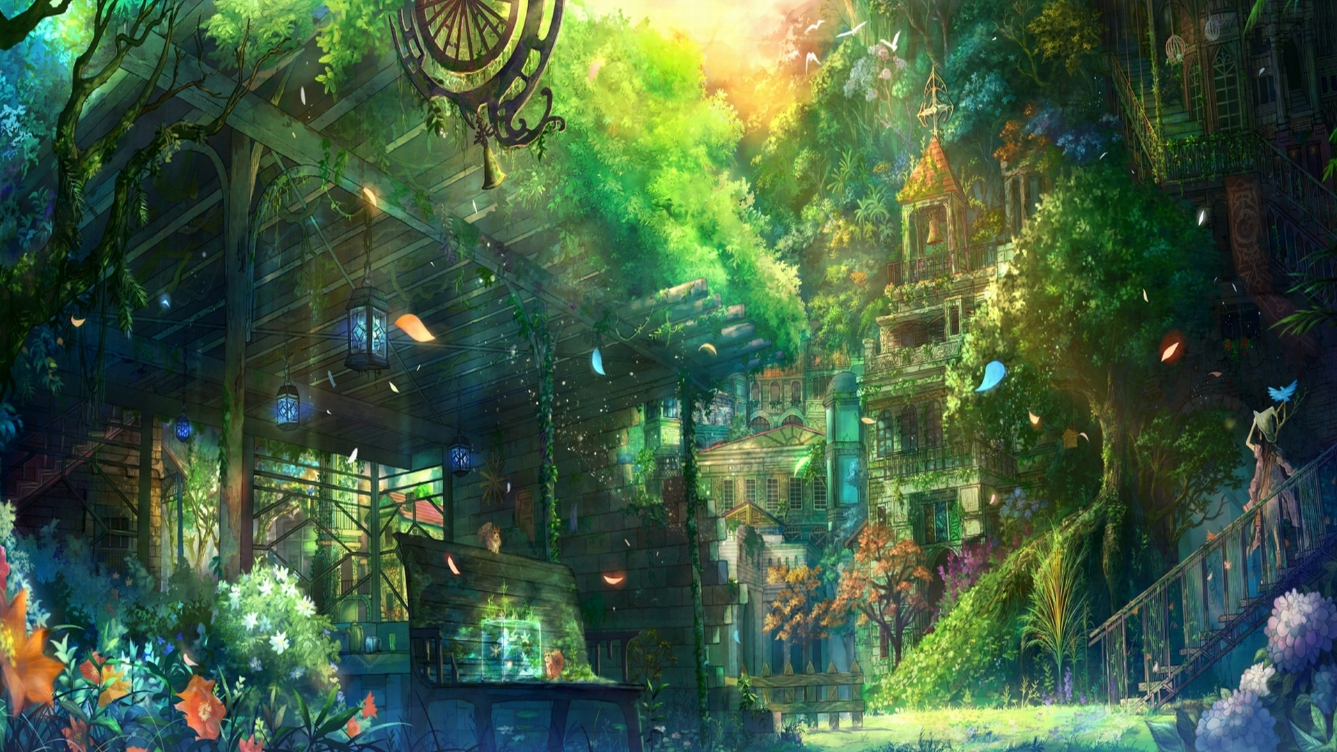 HD Wallpaper | Background ID:166842. 1920x1080 Anime City