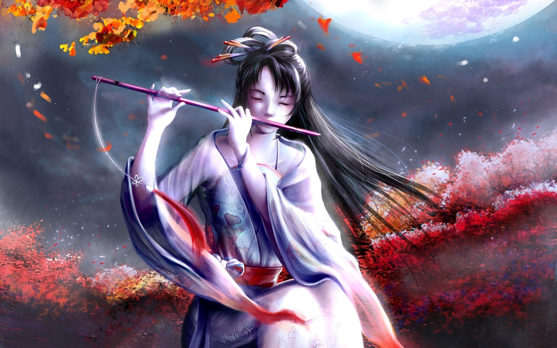 Anime Flute Girl