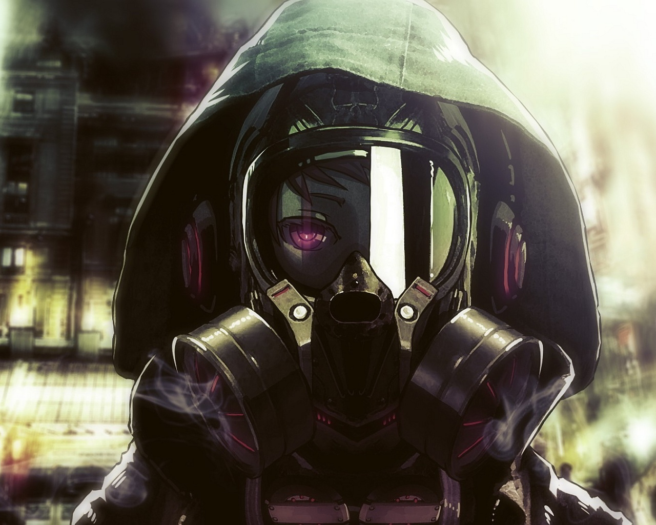 gasmask pictures anime gas mask wallpaper 1280x1024 14676 7203
