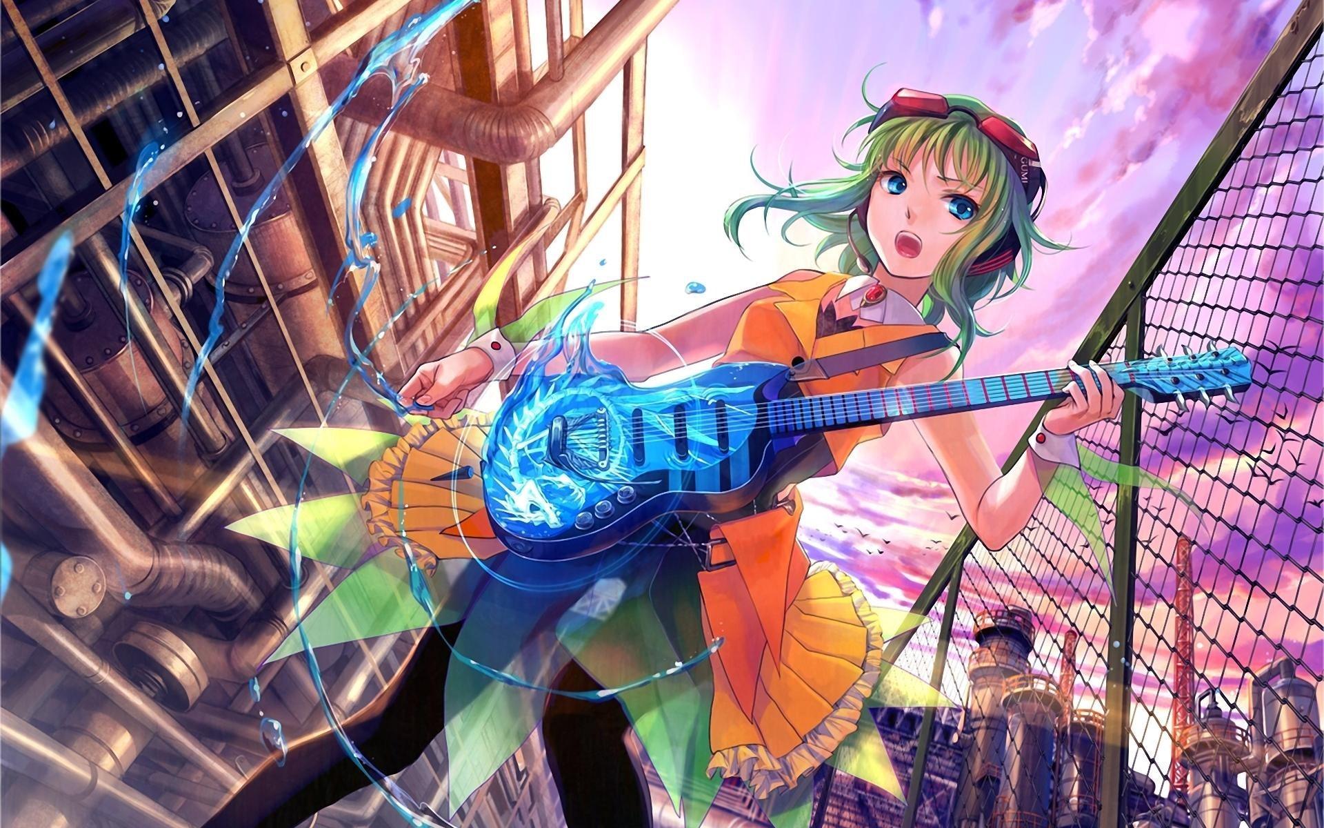 Anime Girl Guitar Music Art