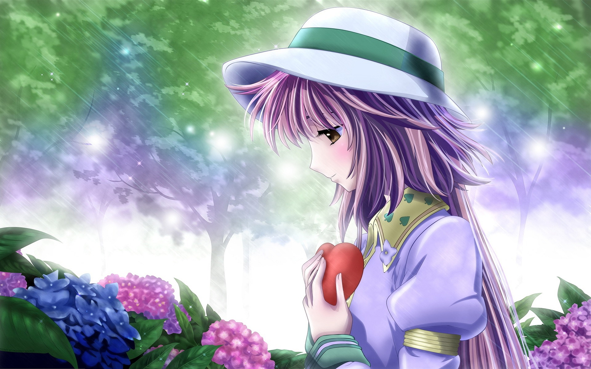 Anime Girl in Love wallpaper 1920x1200 #27895