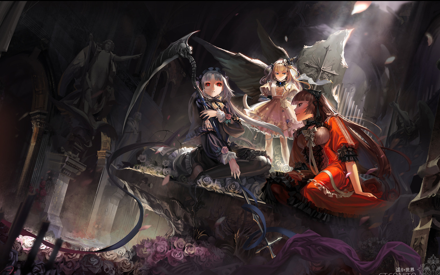 Anime scythe girl