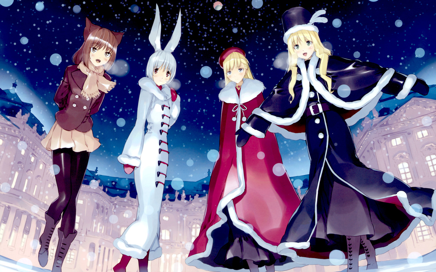 Download Anime Winter Girls Wallpaper : Widescreen : 1152 x 720 | 1280 x 800 ...