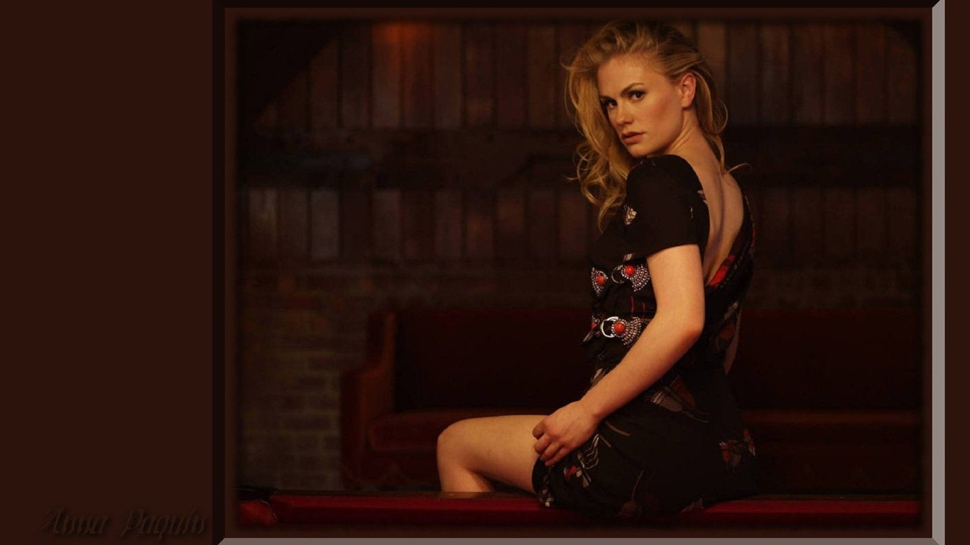 Anna Paquin #007 - 1366x768 Wallpapers Pictures Photos Images.