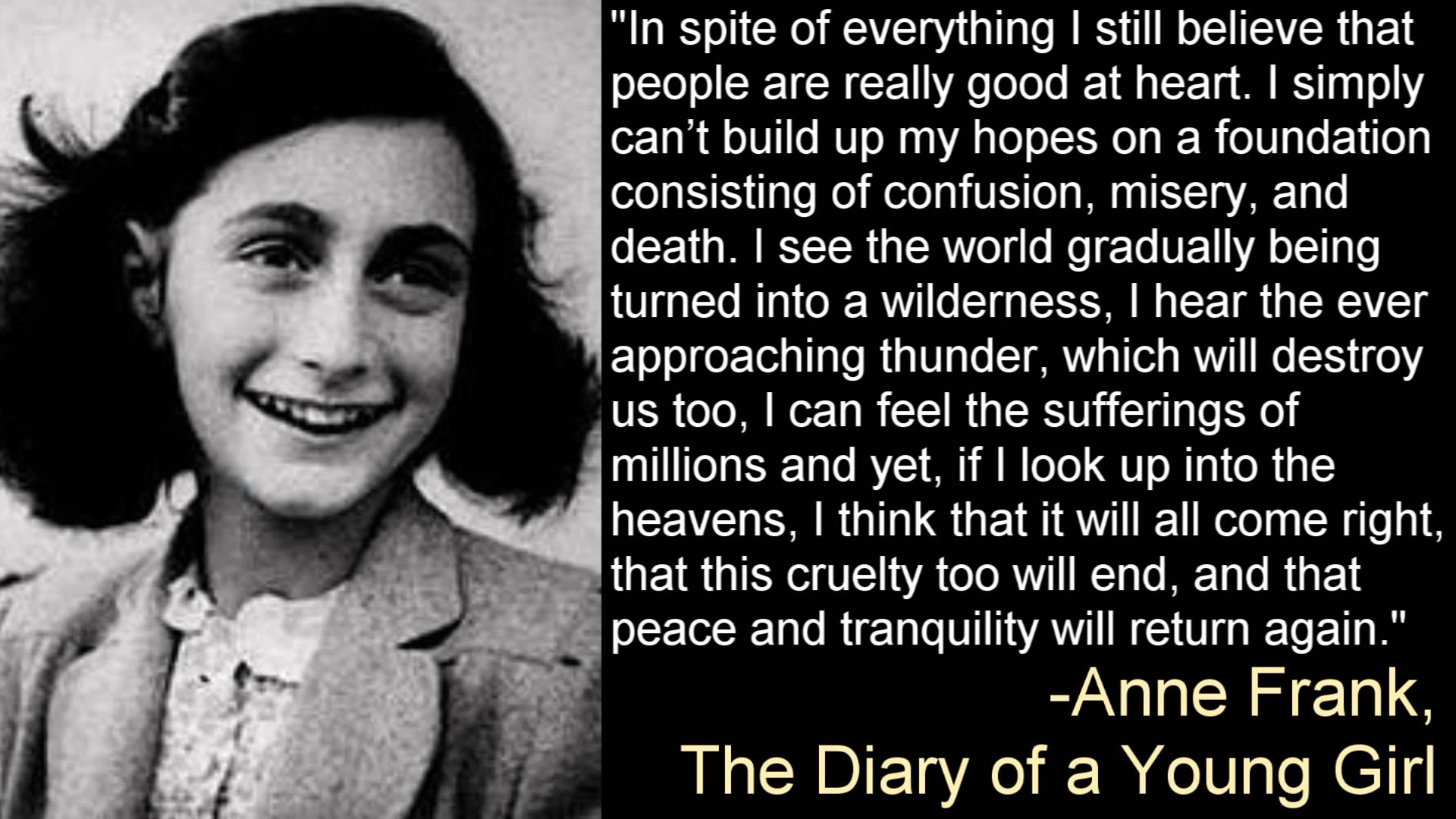 The Ever Approaching Thunder - Anne Frank, The Diary of a Young Girl