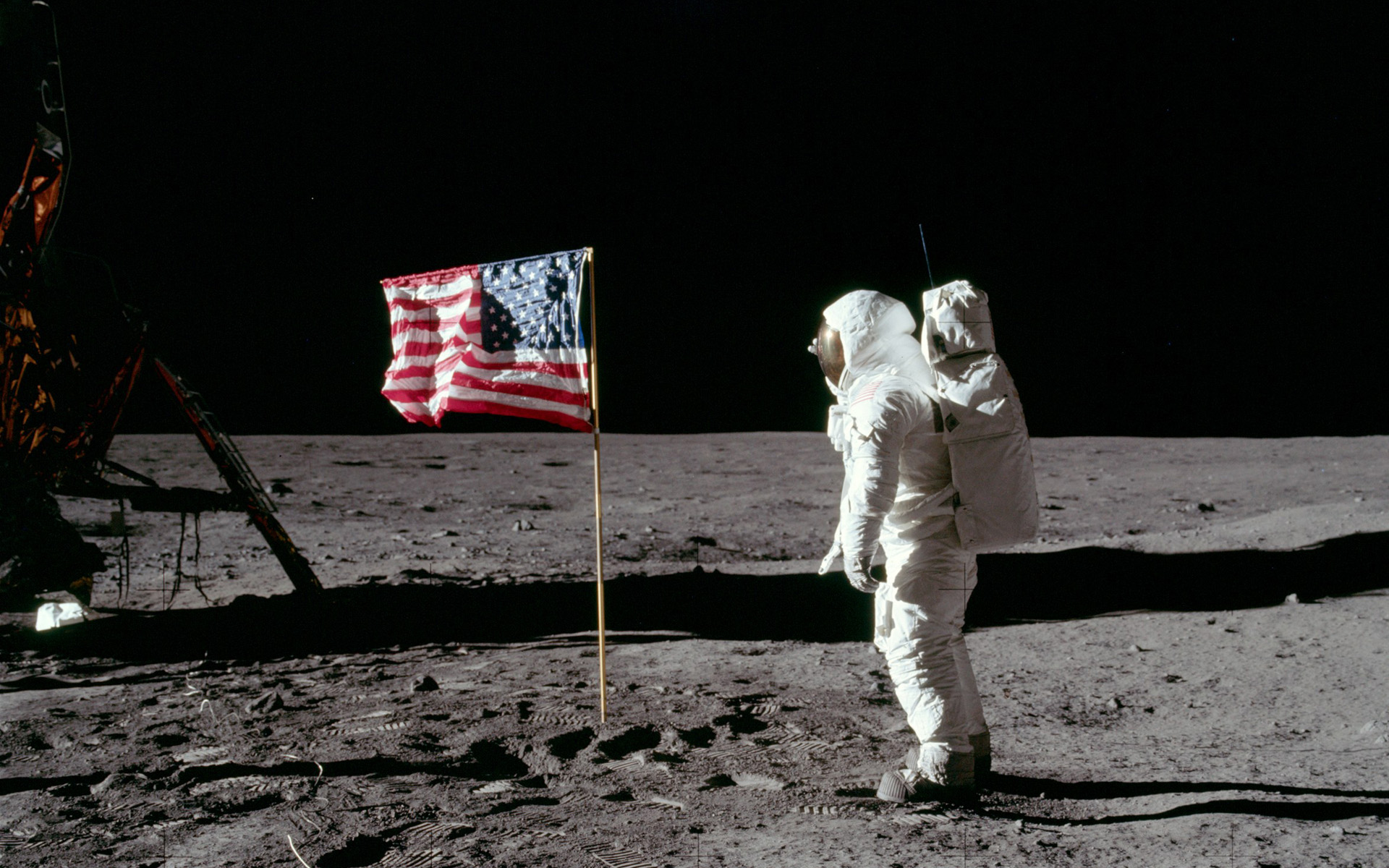 Apollo 11 - Flag Salute