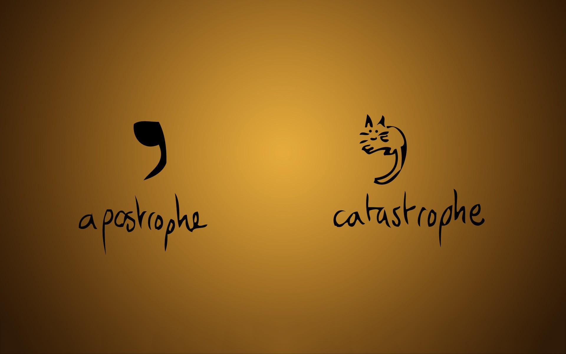 Apostrophe catastrophe