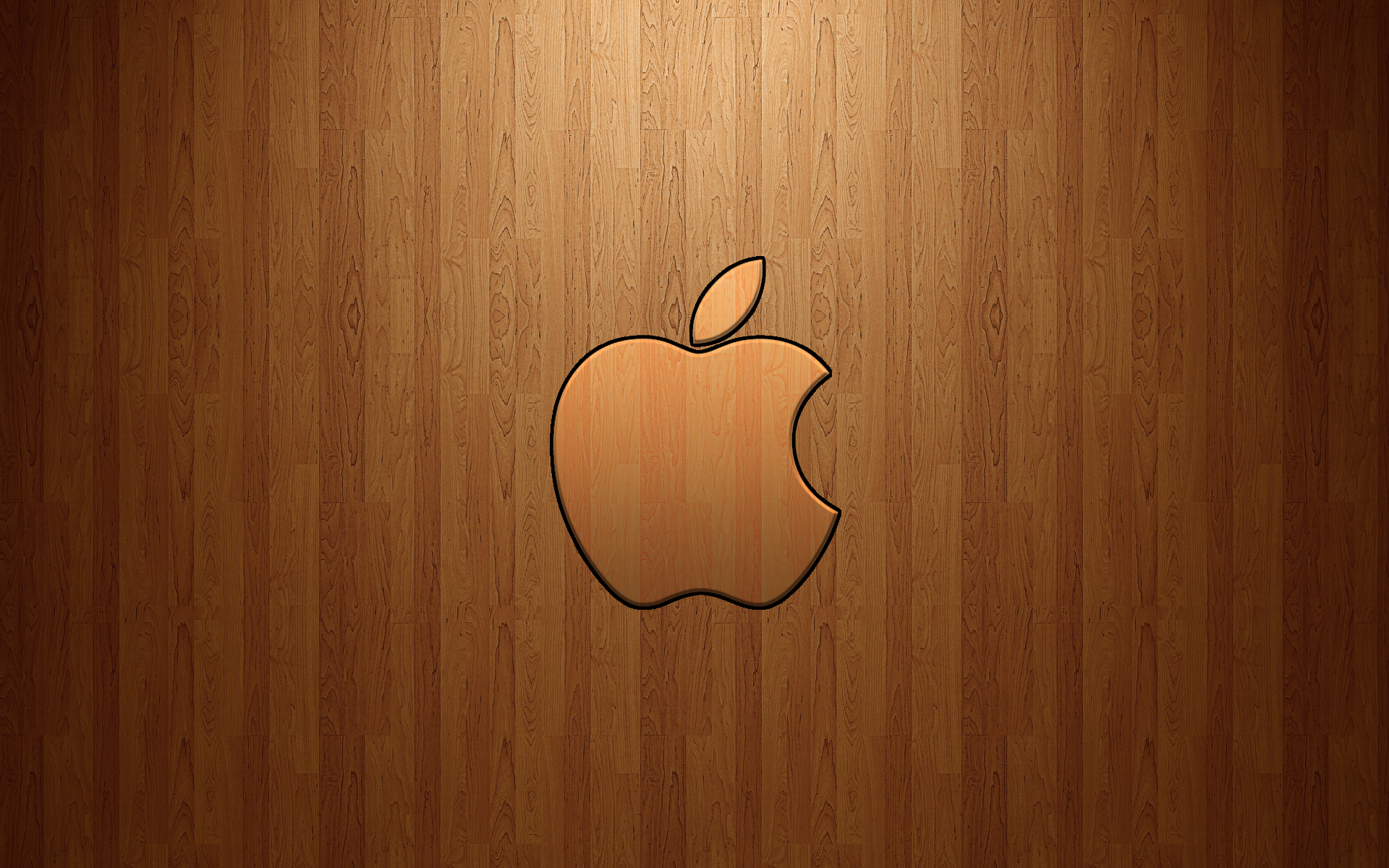 Apple Logo Wood