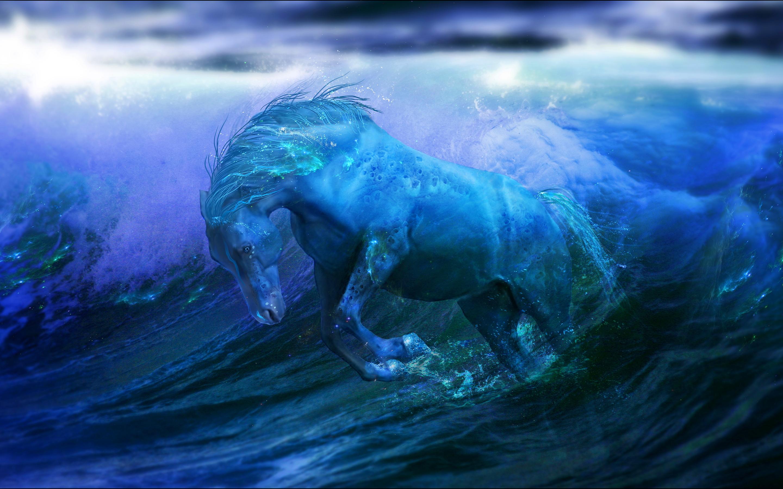 Aqua horse