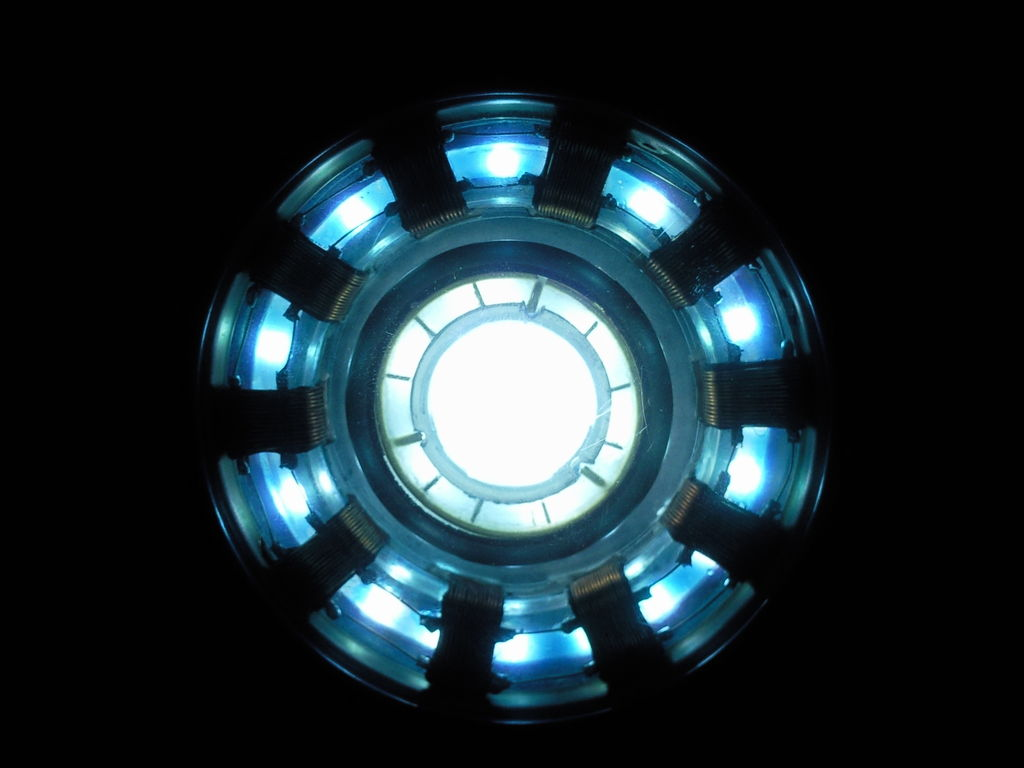 This is the second arc reactor I made. I did not completely copy the prop in themovie. I created some new designs.