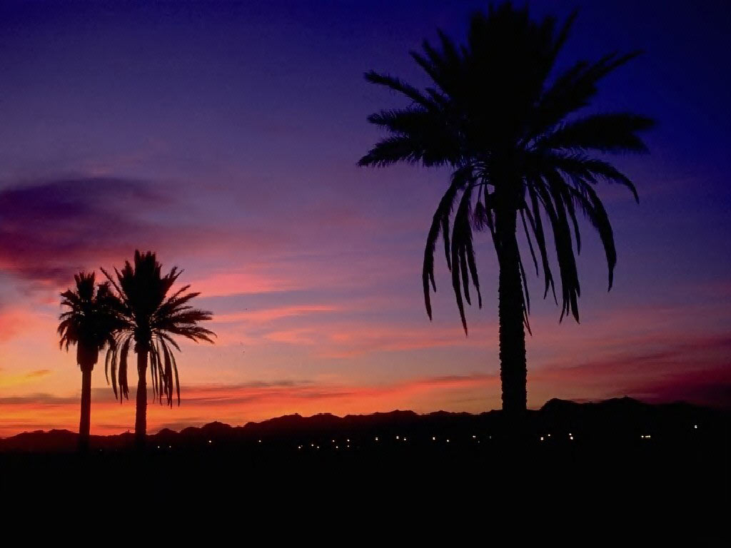 Arizona Sunset Background