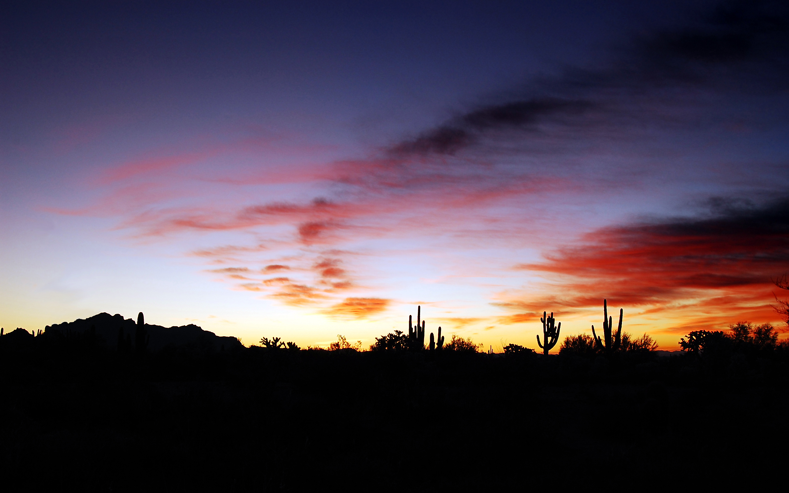 Arizona Sunset Wallpaper Widescreen 2 HD Wallpapers