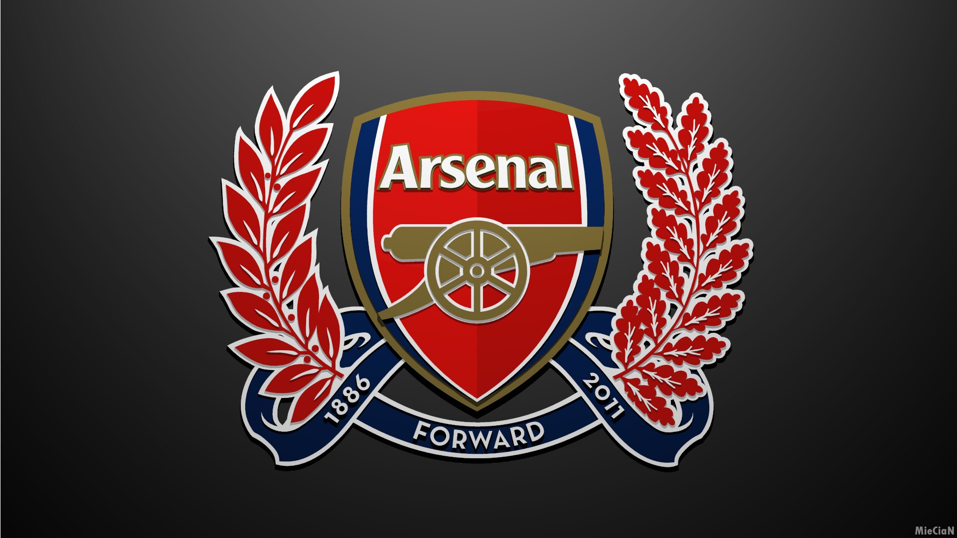 Arsenal FC Logo Club 25 HD Screensavers