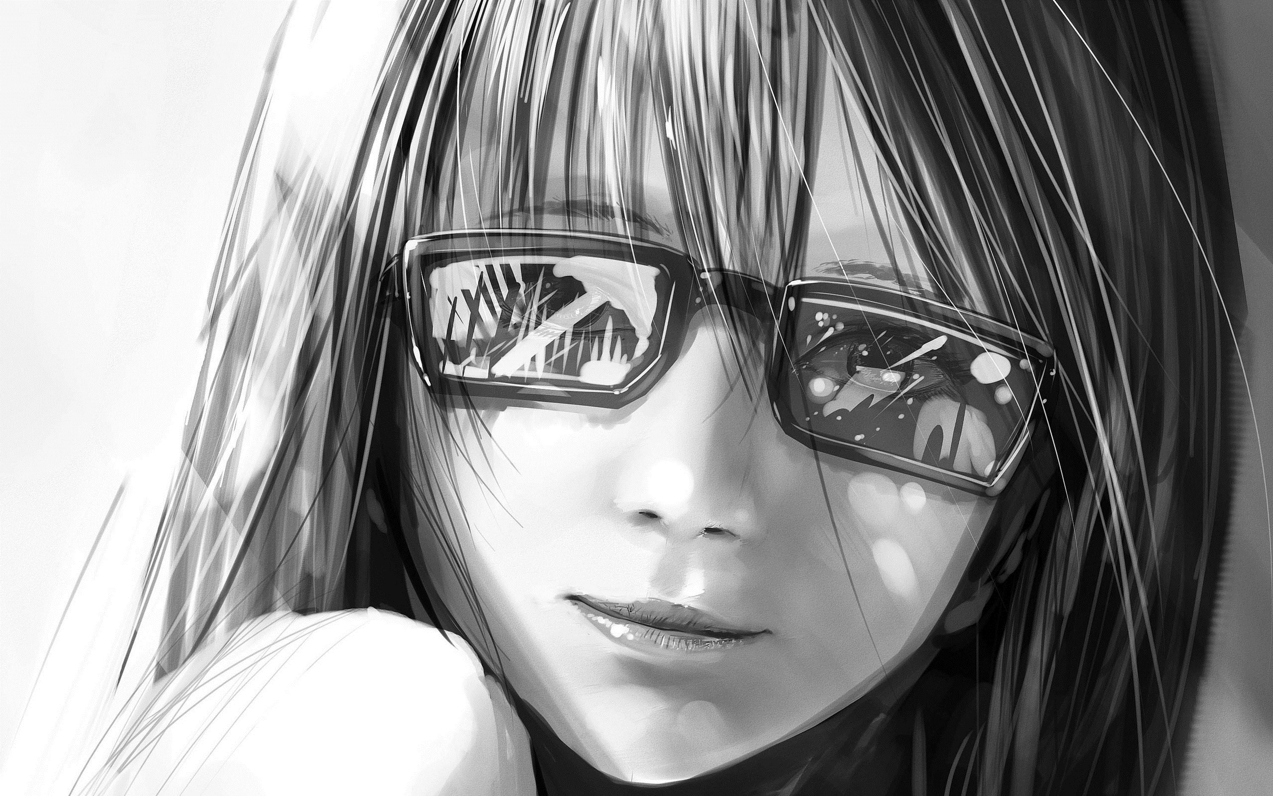 Art Beauty Girl Sunglasses