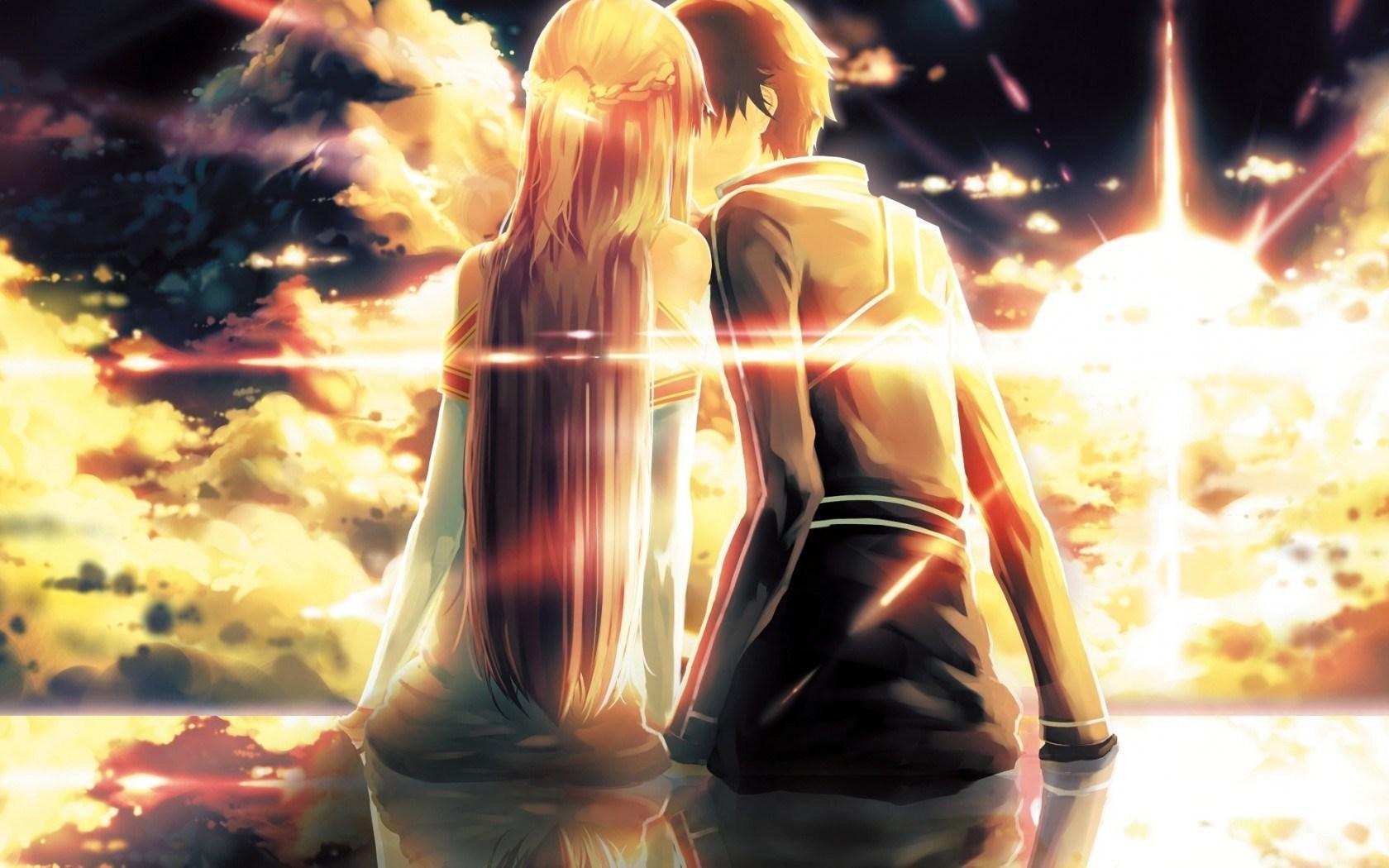 Art Kiss Boy Girl Anime