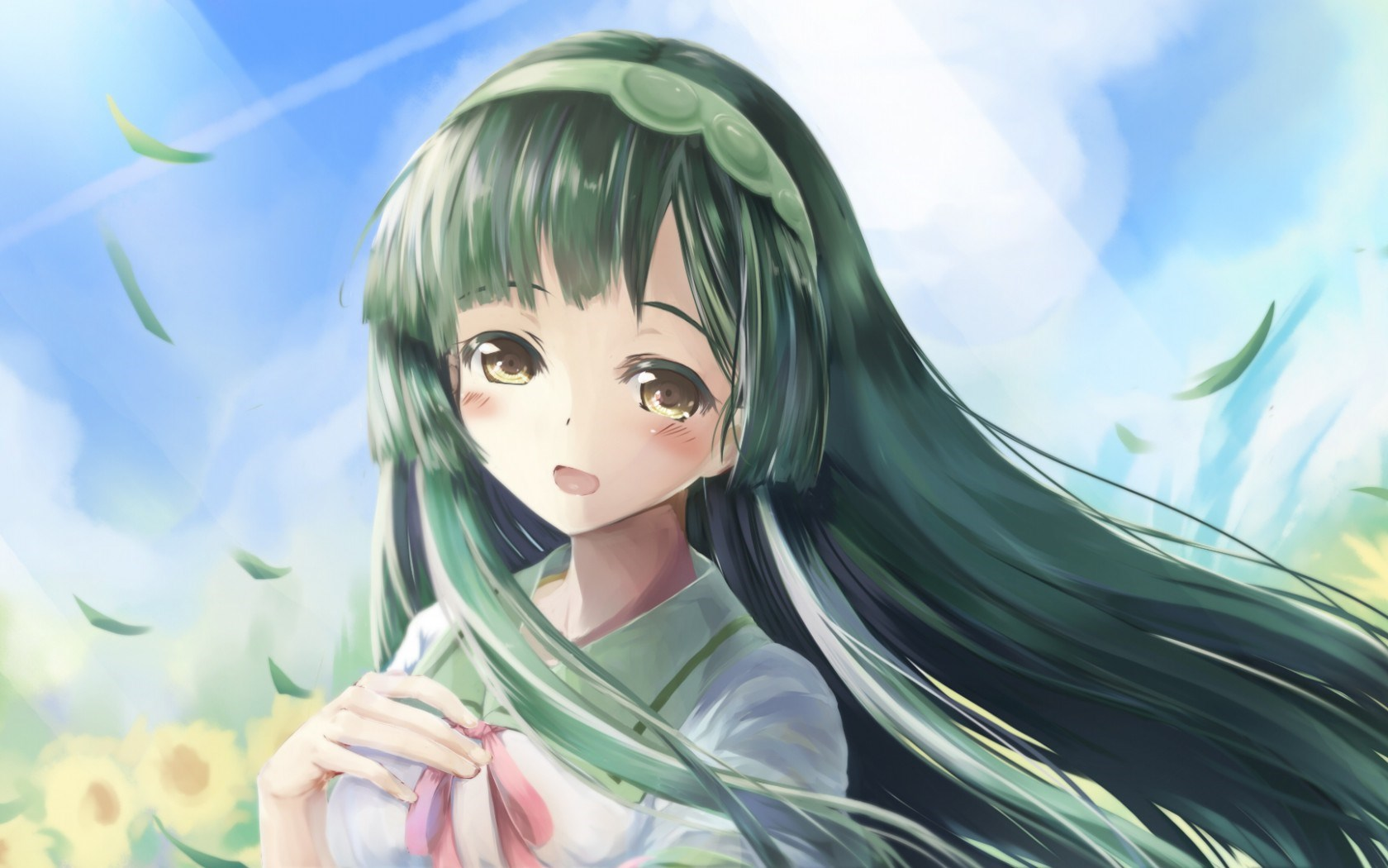 Art Tohoku Zunko Vocaloid Girl Anime