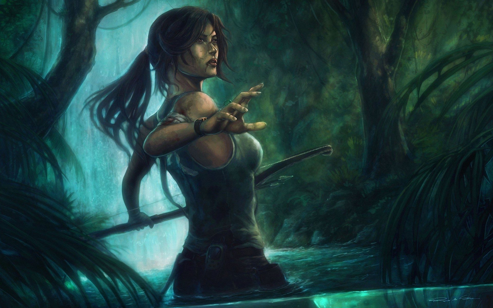 Art Tomb Raider Lara Croft Girl Jungle