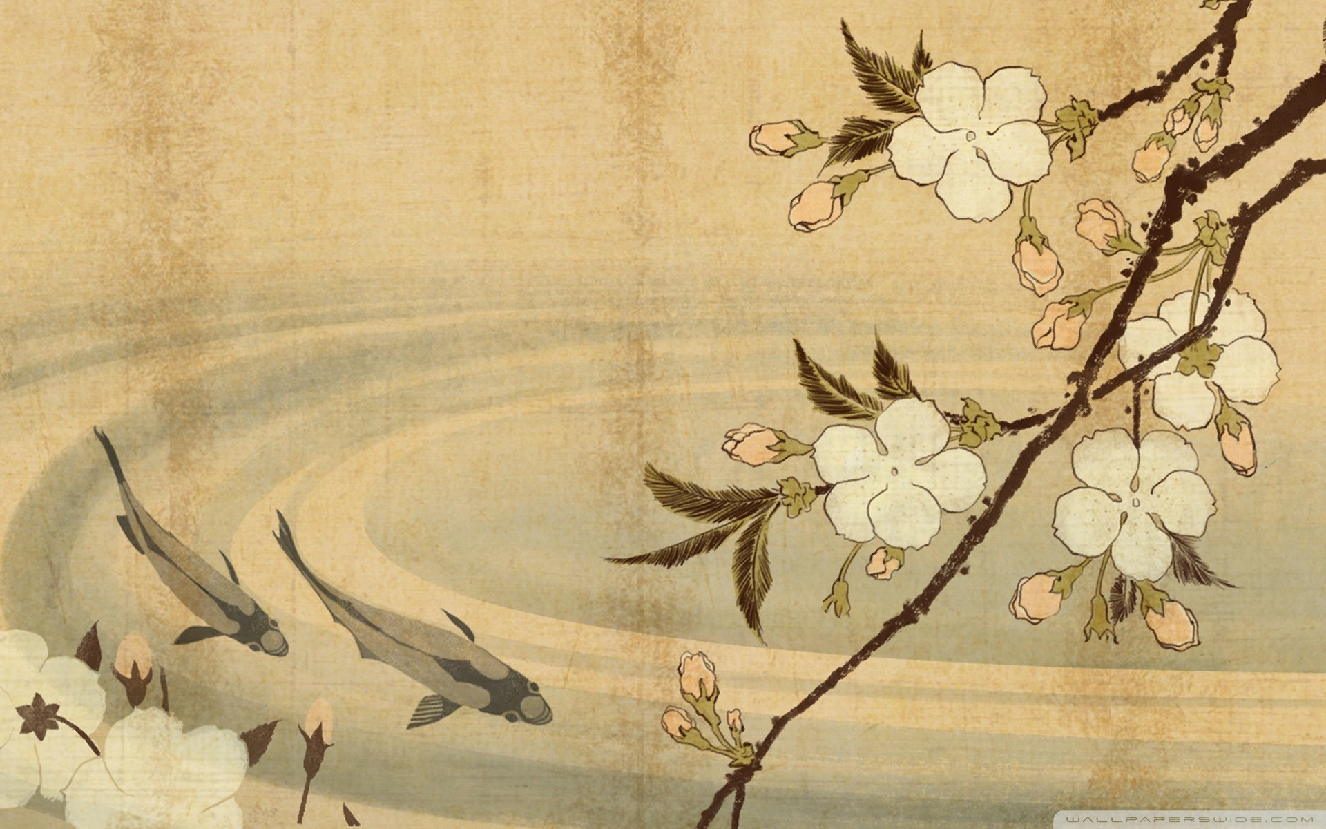 Artistic Japanese Wallpaper
