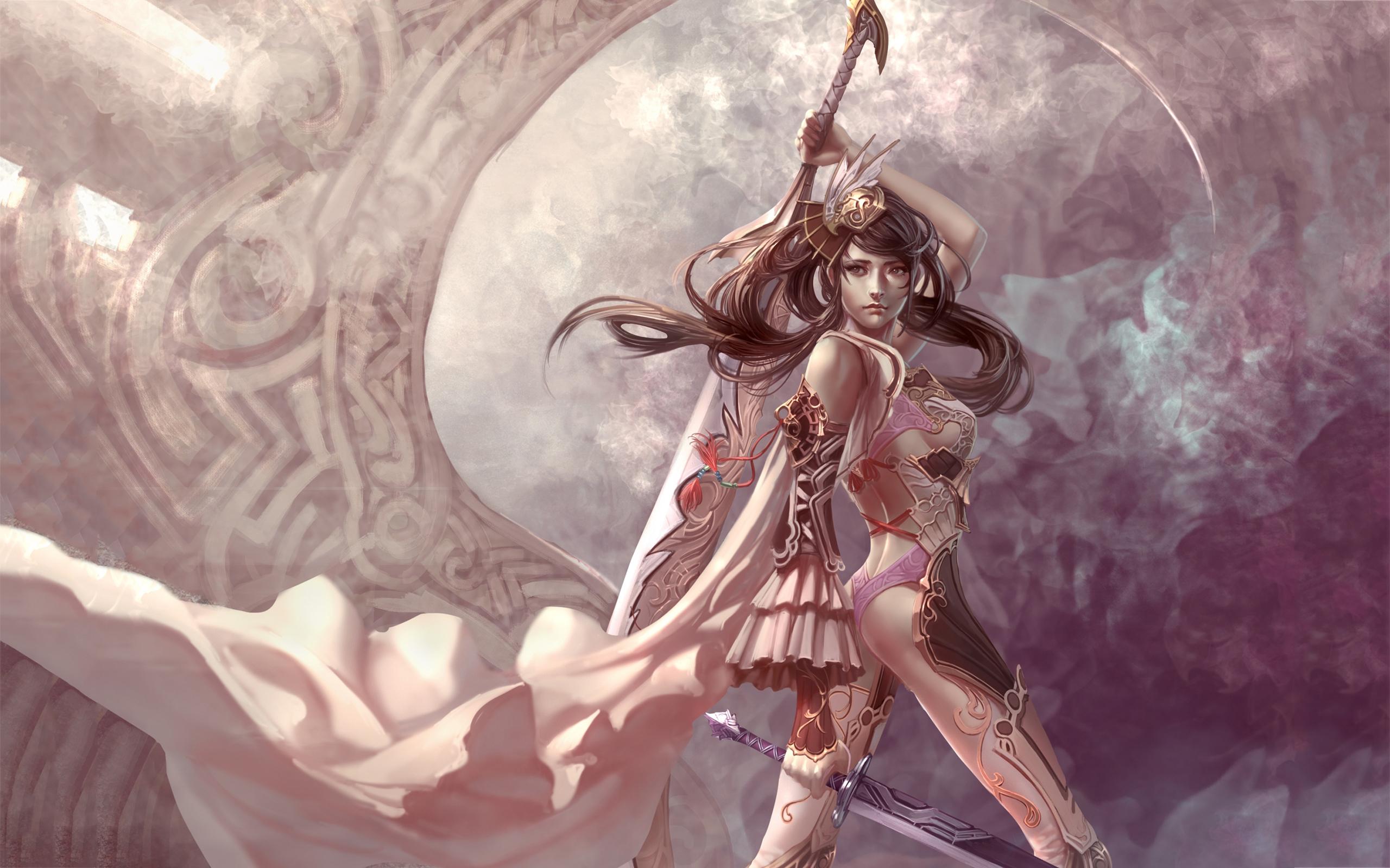 Artwork Sword Girl