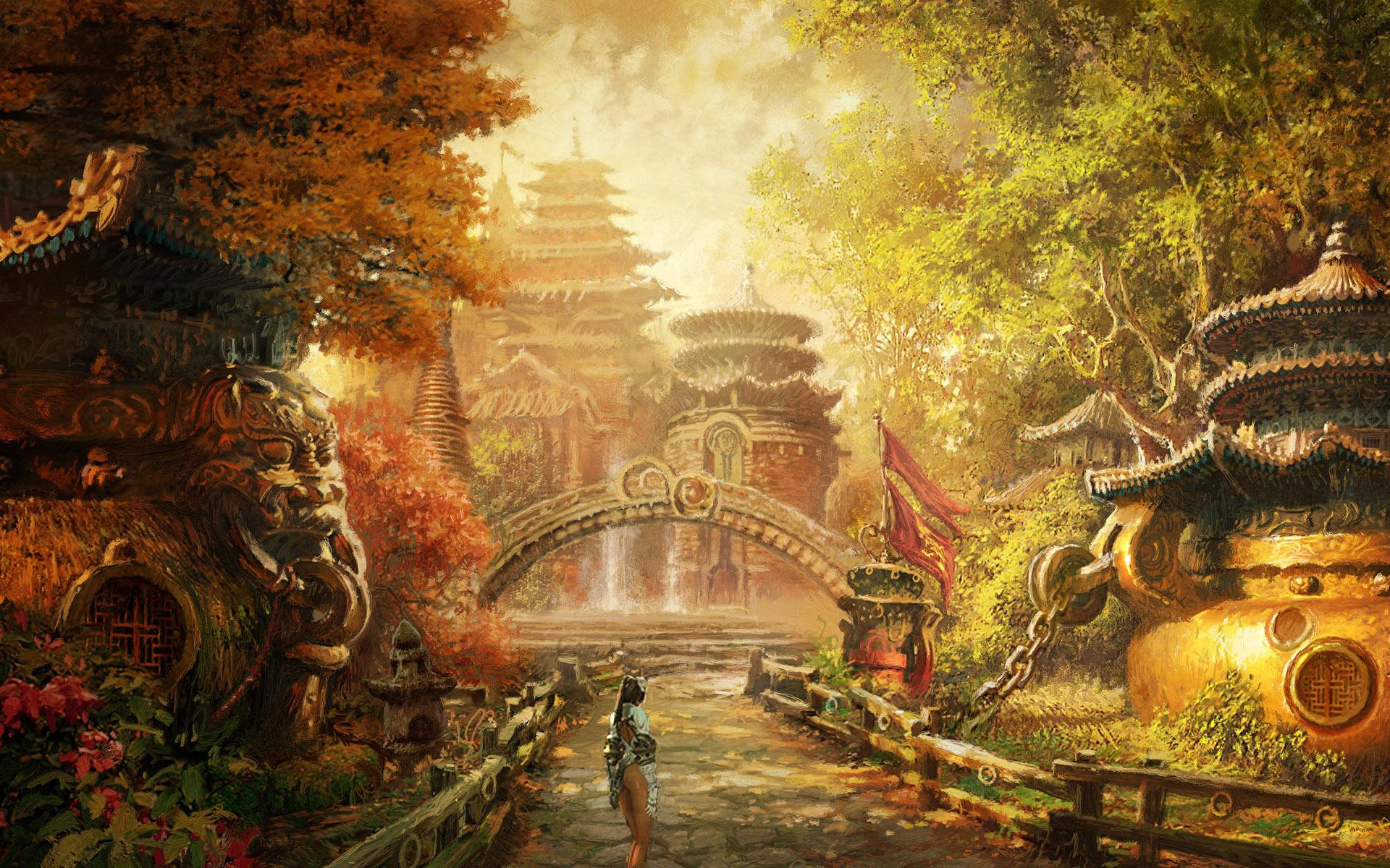 Fantasy hq wallpapers and pictures - Art village wallpaper ...