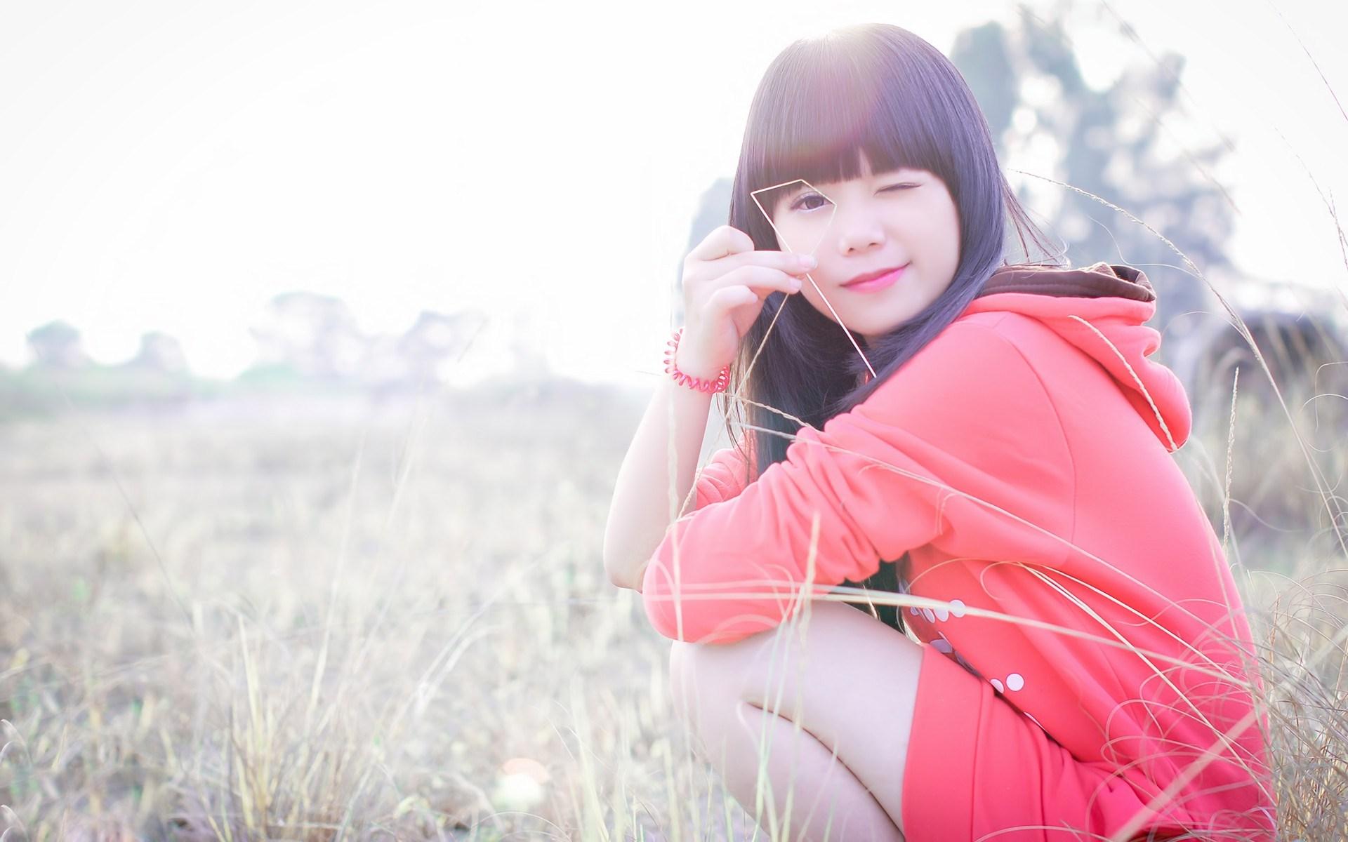 Brunette Asian Girl Photography HD Wallpaper