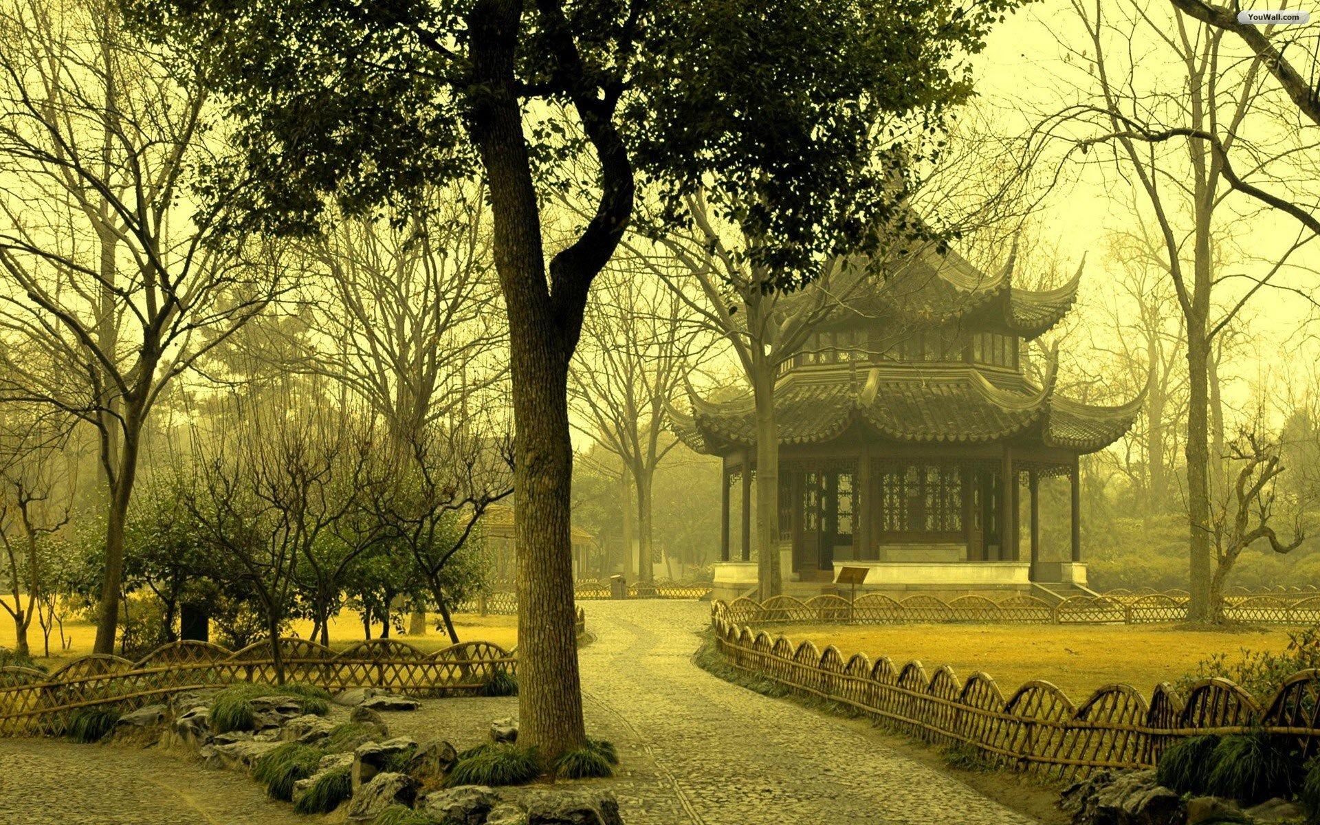 Asian Garden Wallpaper