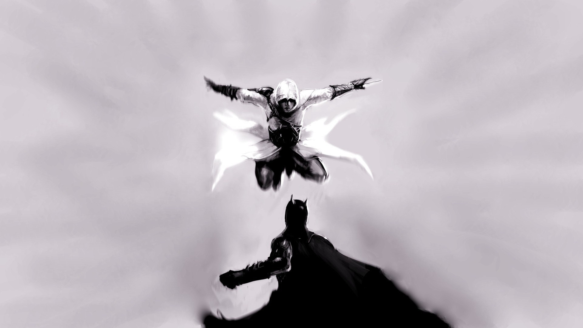 Assassins Creed vs Batman Art
