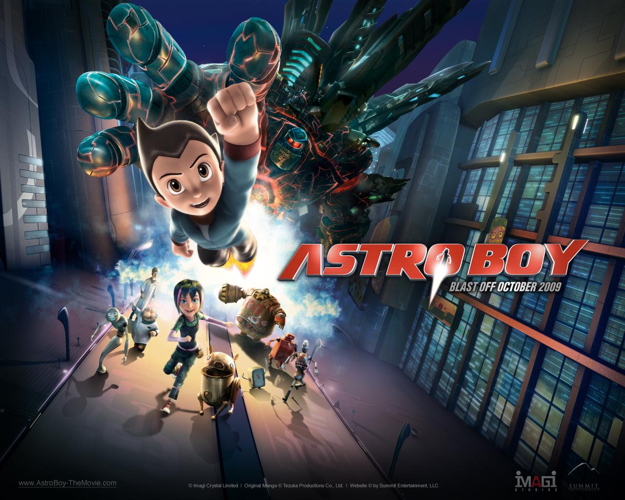 """""""Astro Boy Movie"""" desktop wallpaper (1280 x 1024 pixels)"""