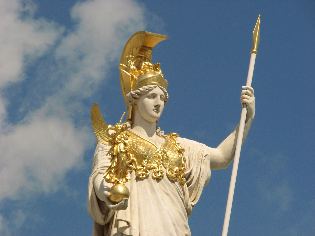 ... Statue of Athena in front of the Austrian Parliament | by Cheeky Monkey