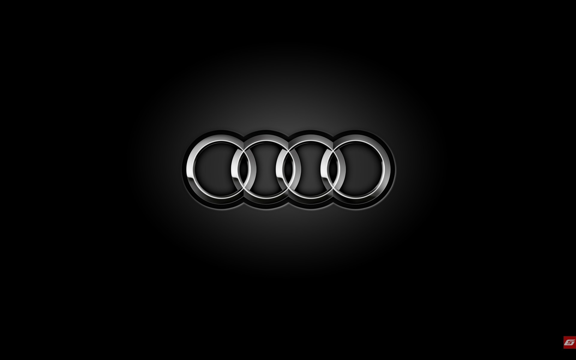 ... wallpaper originals audi rings logo ...