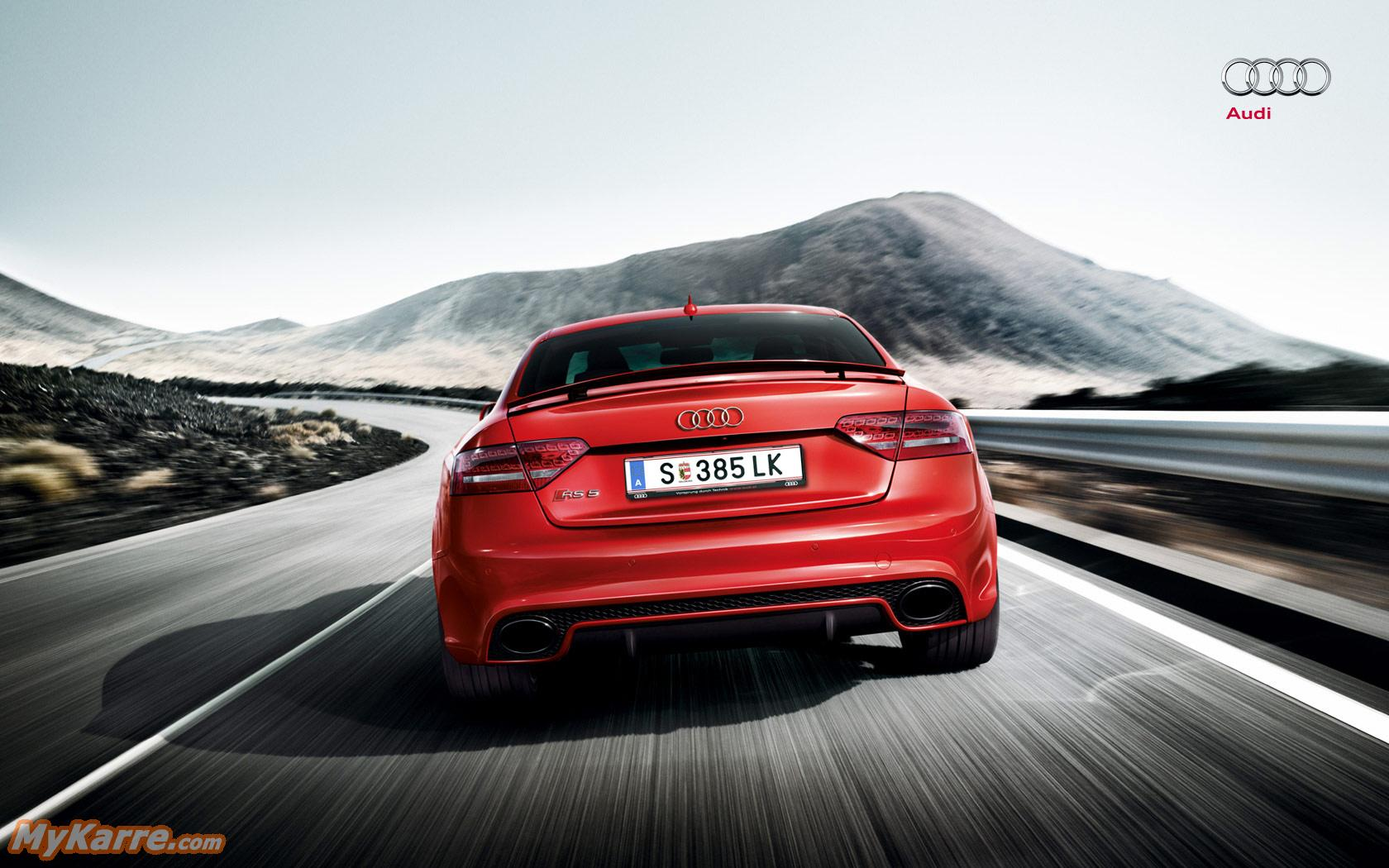 Audi RS5 Wallpaper Heckansicht