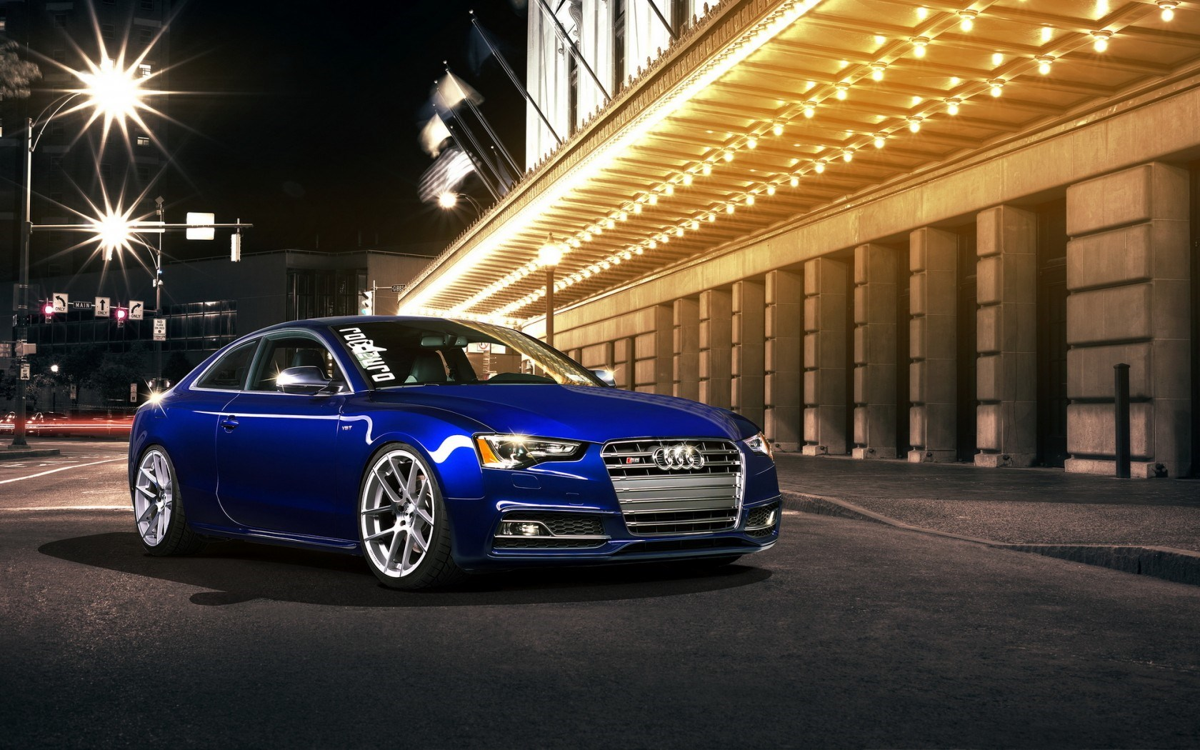 Audi S5 Coupe Tuning Street Night