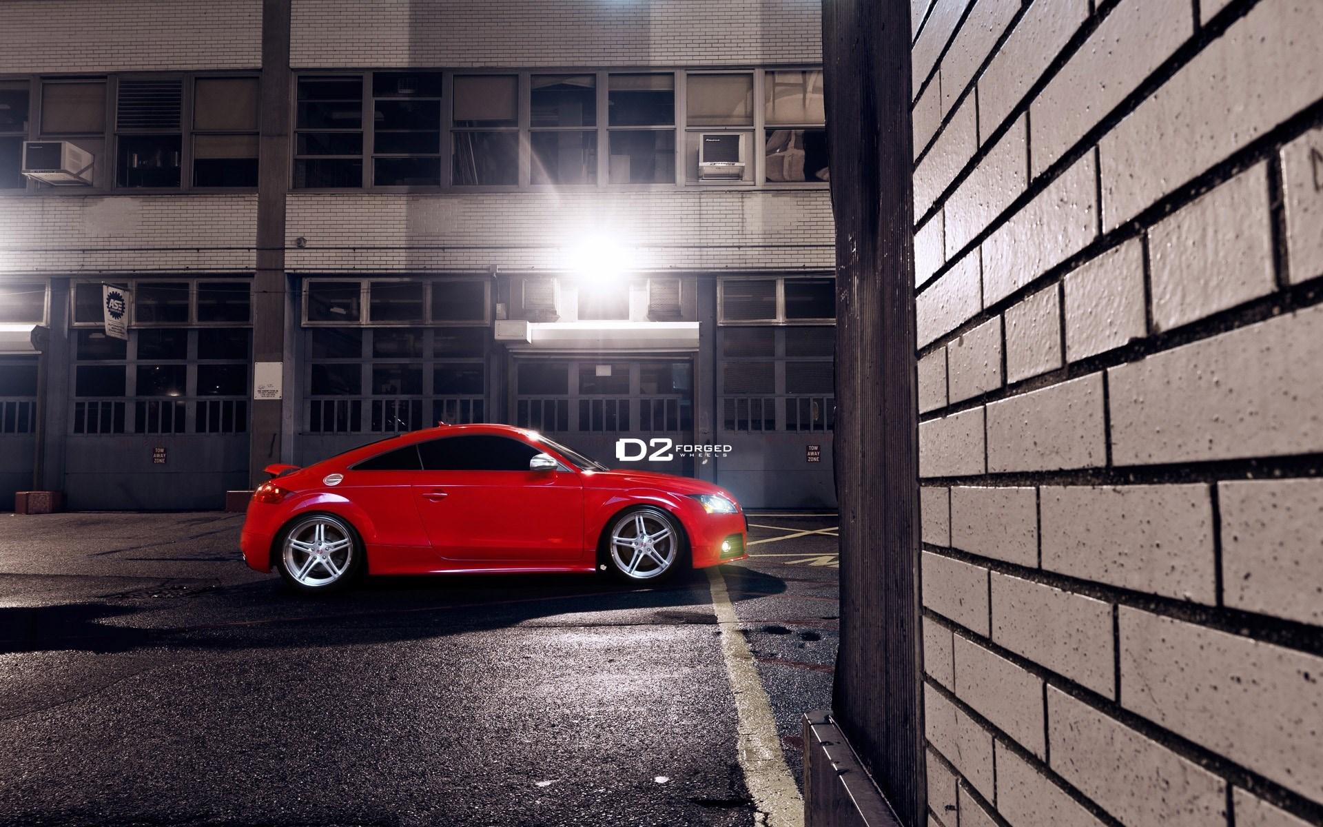 Audi TT Red Parking