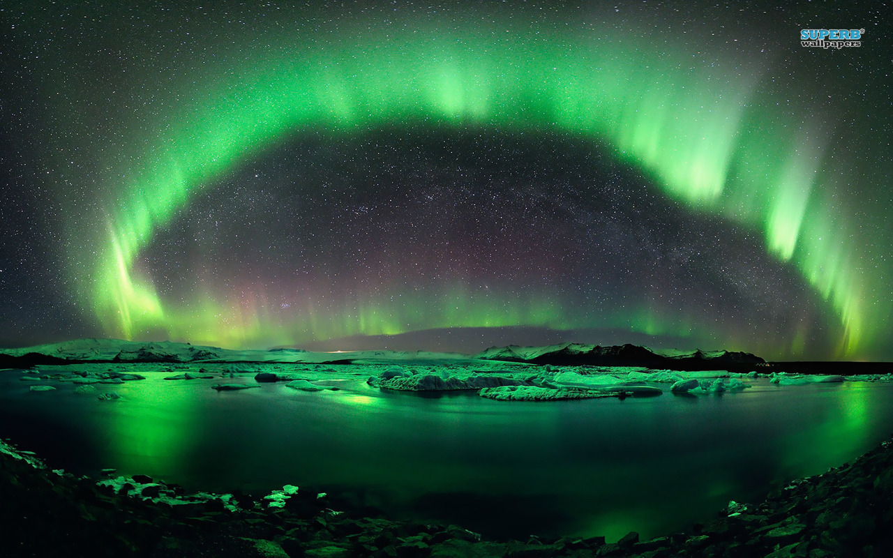 Aurora borealis wallpaper 1280x800