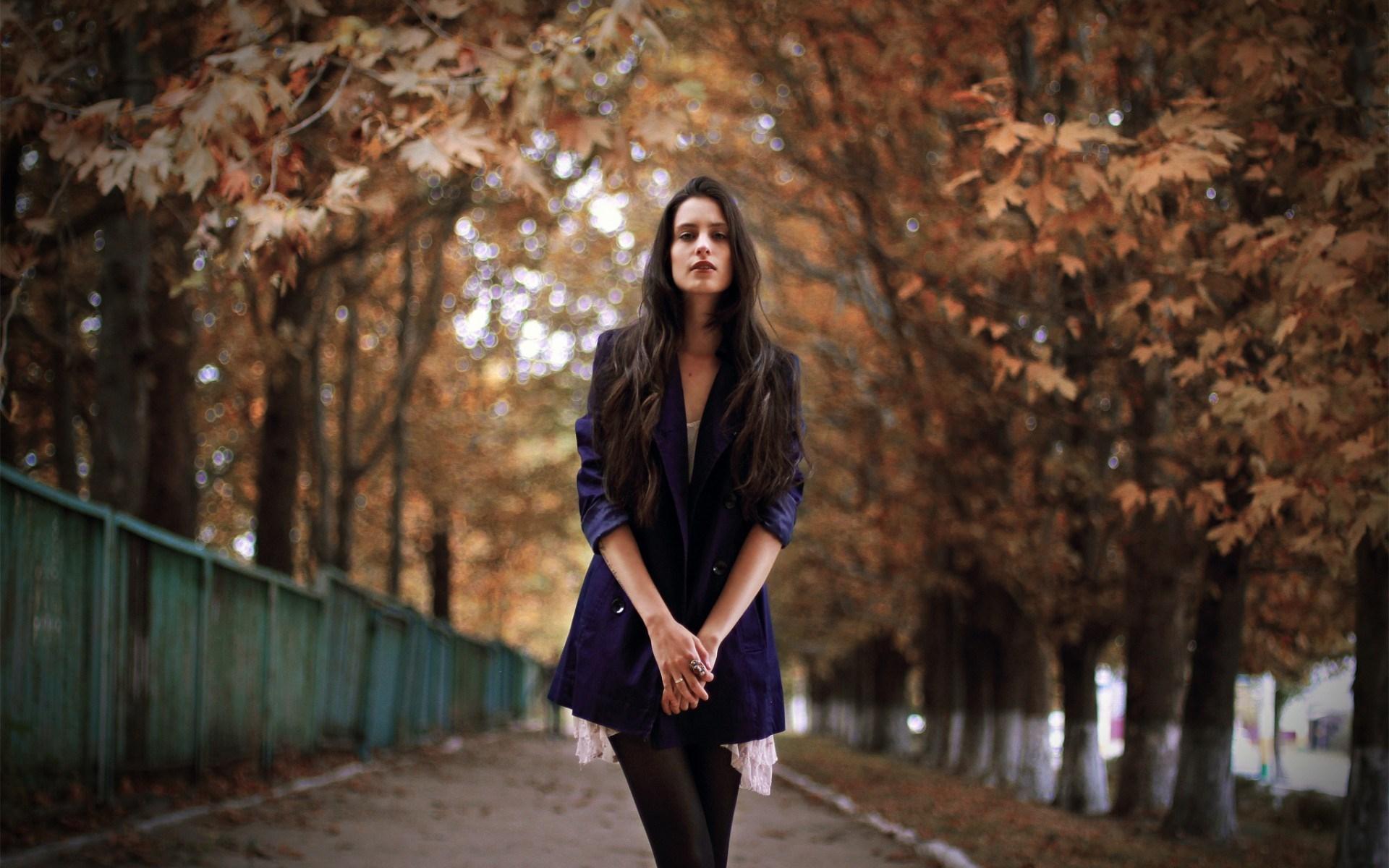 Autumn Girl Brunette Model