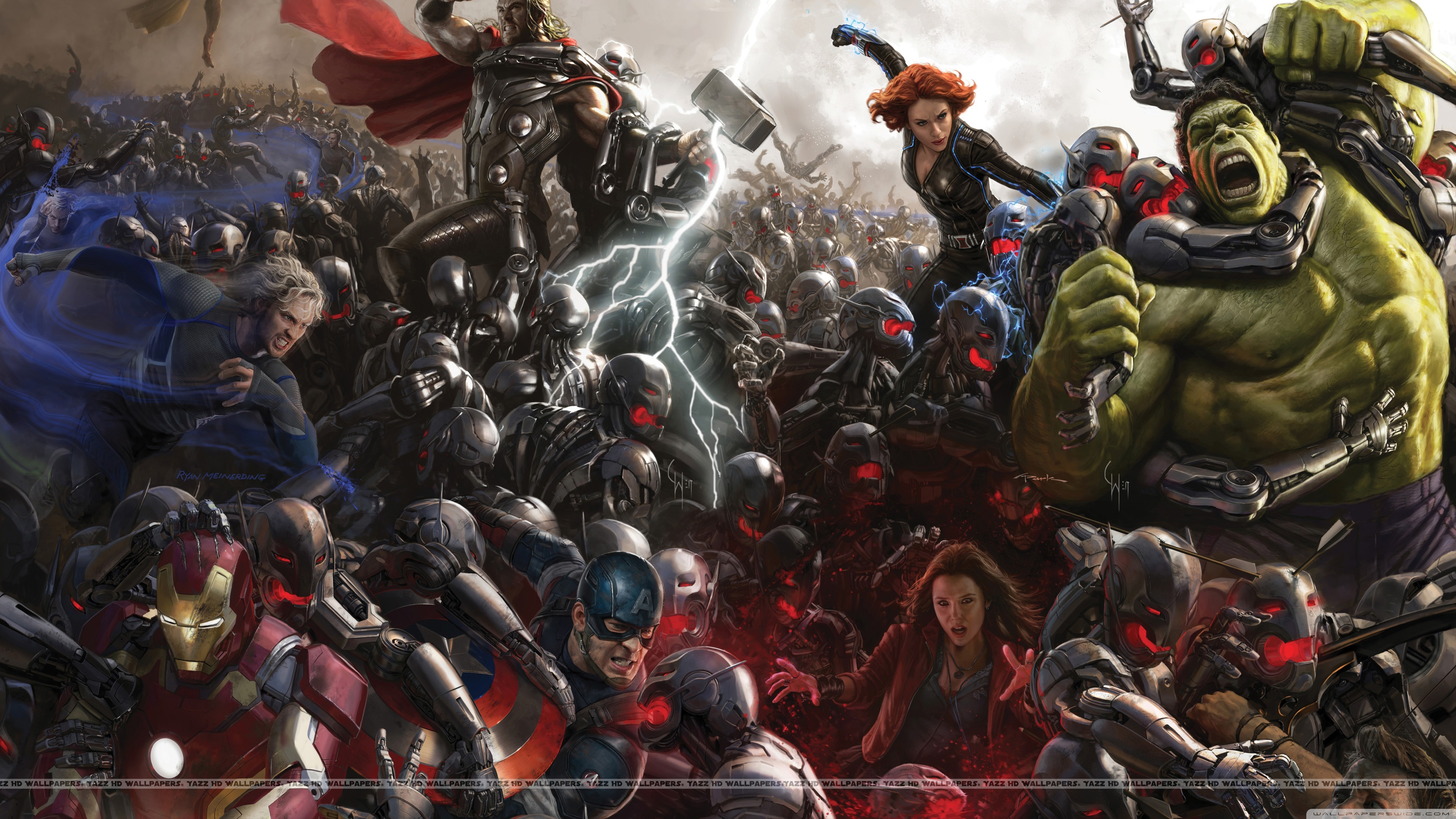Avengers Age of Ultron 4K HD Wide Wallpaper for Widescreen
