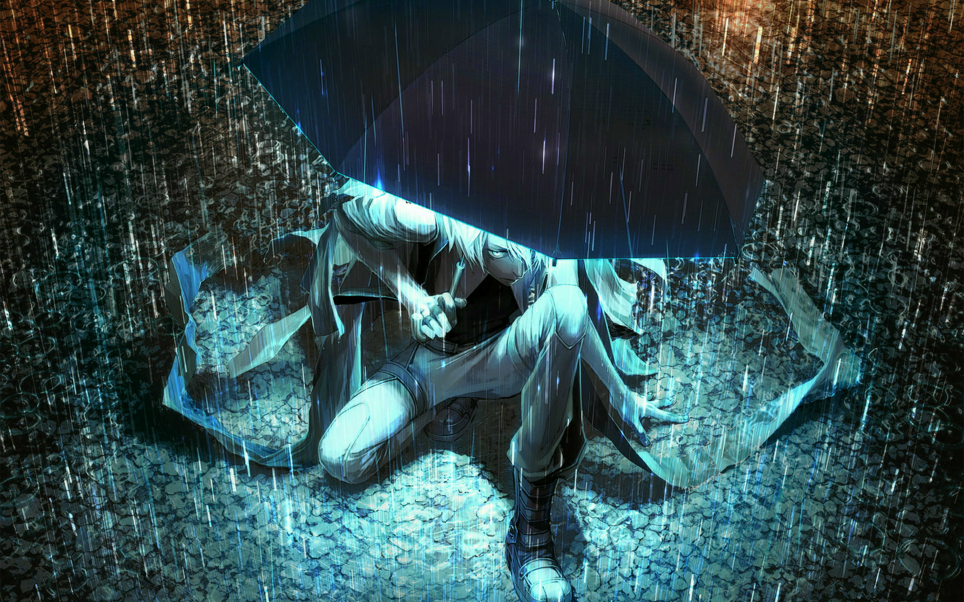 Awesome Anime Rain Wallpaper