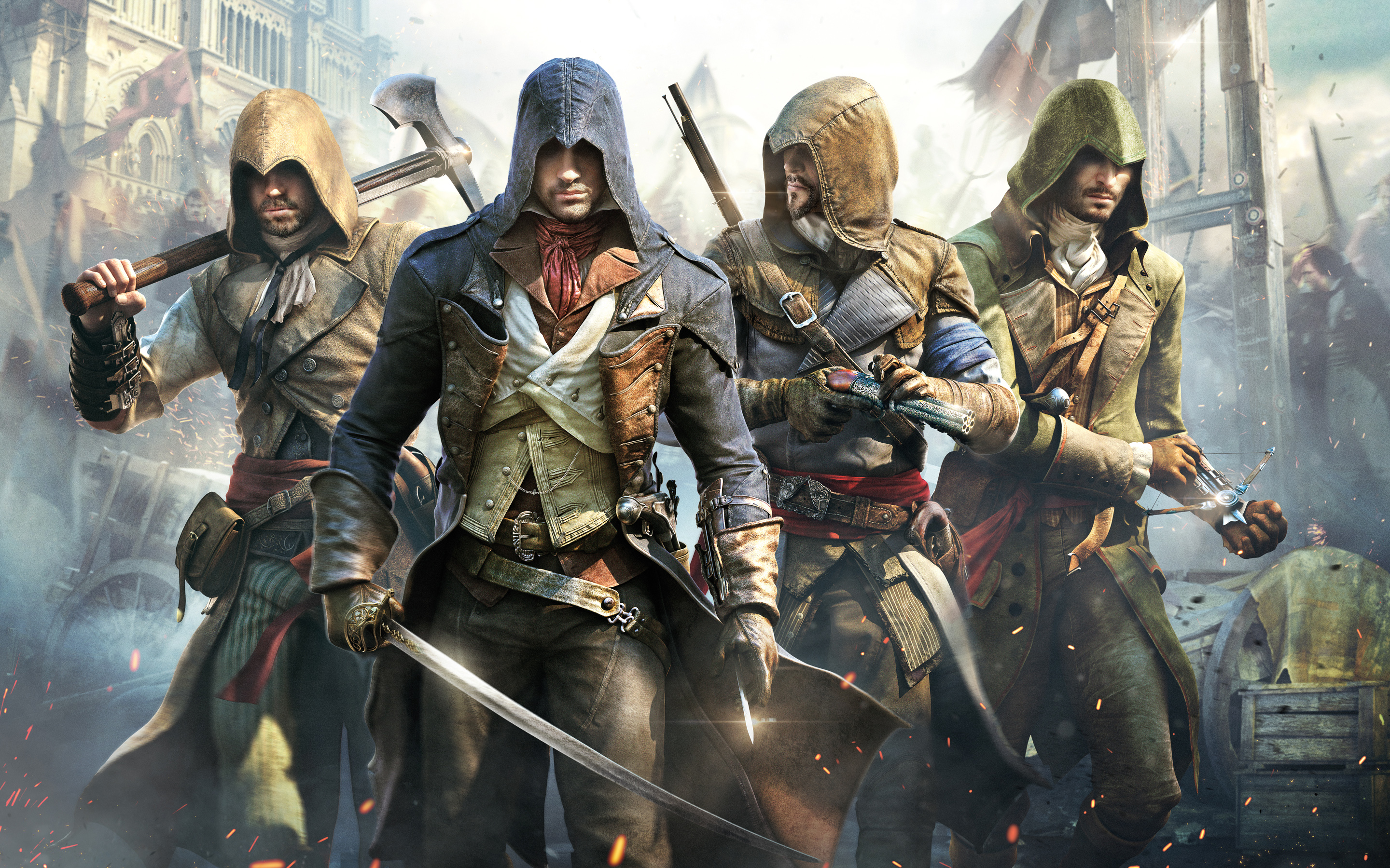Awesome Assassins Creed Unity Wallpaper 2880x1800 25284