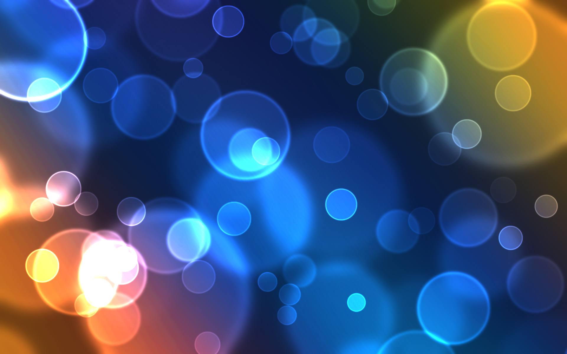 Awesome Blue Bubbles Wallpaper