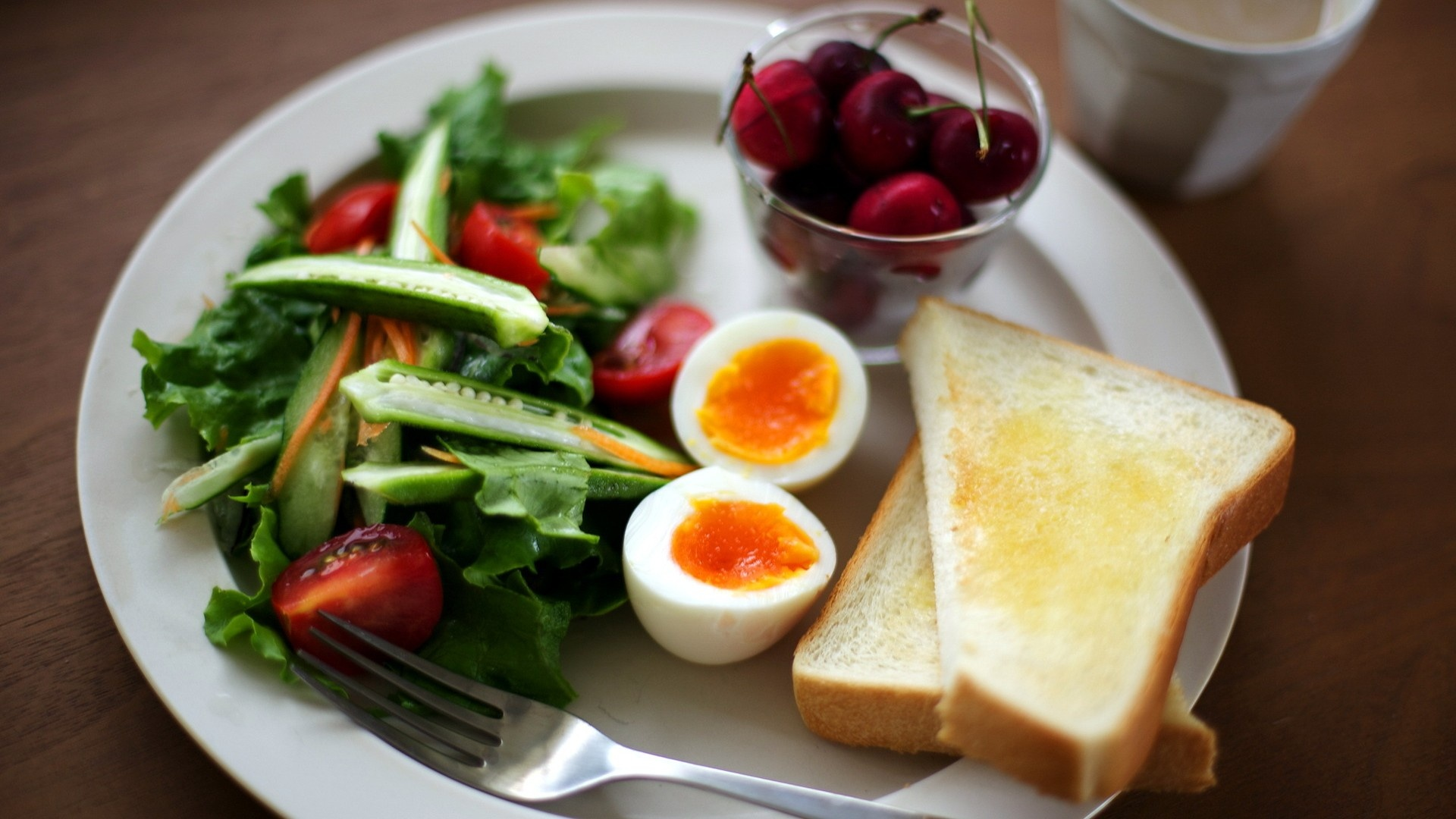 Awesome Breakfast Good Morning Wallpaper Free Download: Salad Breakfast Healthy Hd Wallpaper 1920x1080px