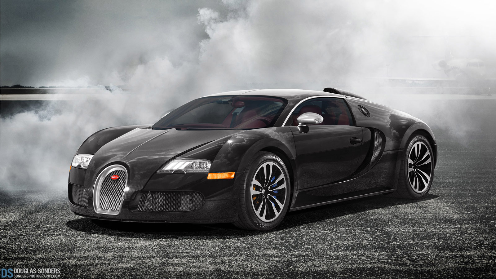 Ridiculously Cool Bugatti Veyron Sang Noir Wallpaper 1600x900px