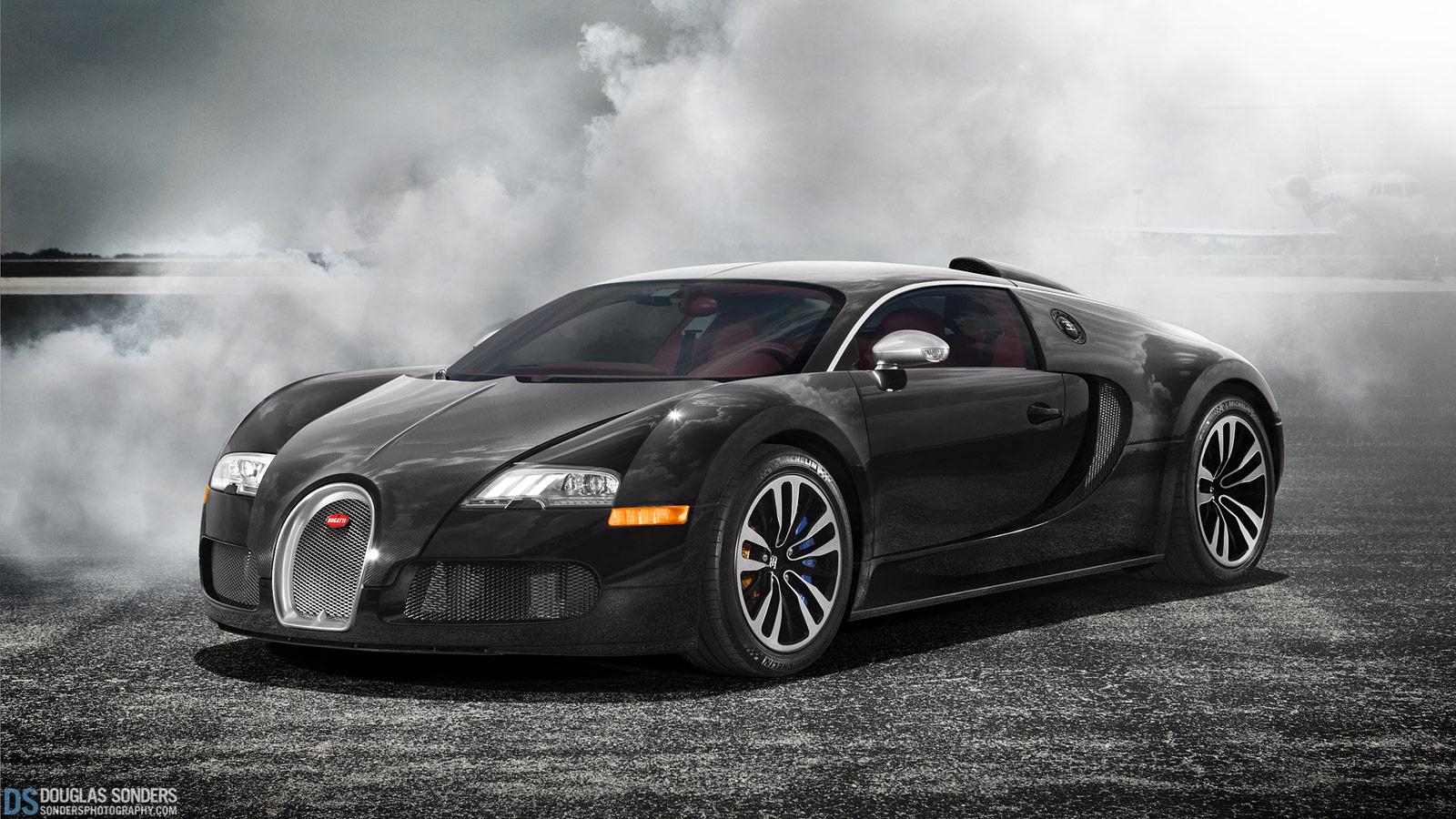Ridiculously Cool Bugatti Veyron Sang Noir Wallpaper 1600x900px