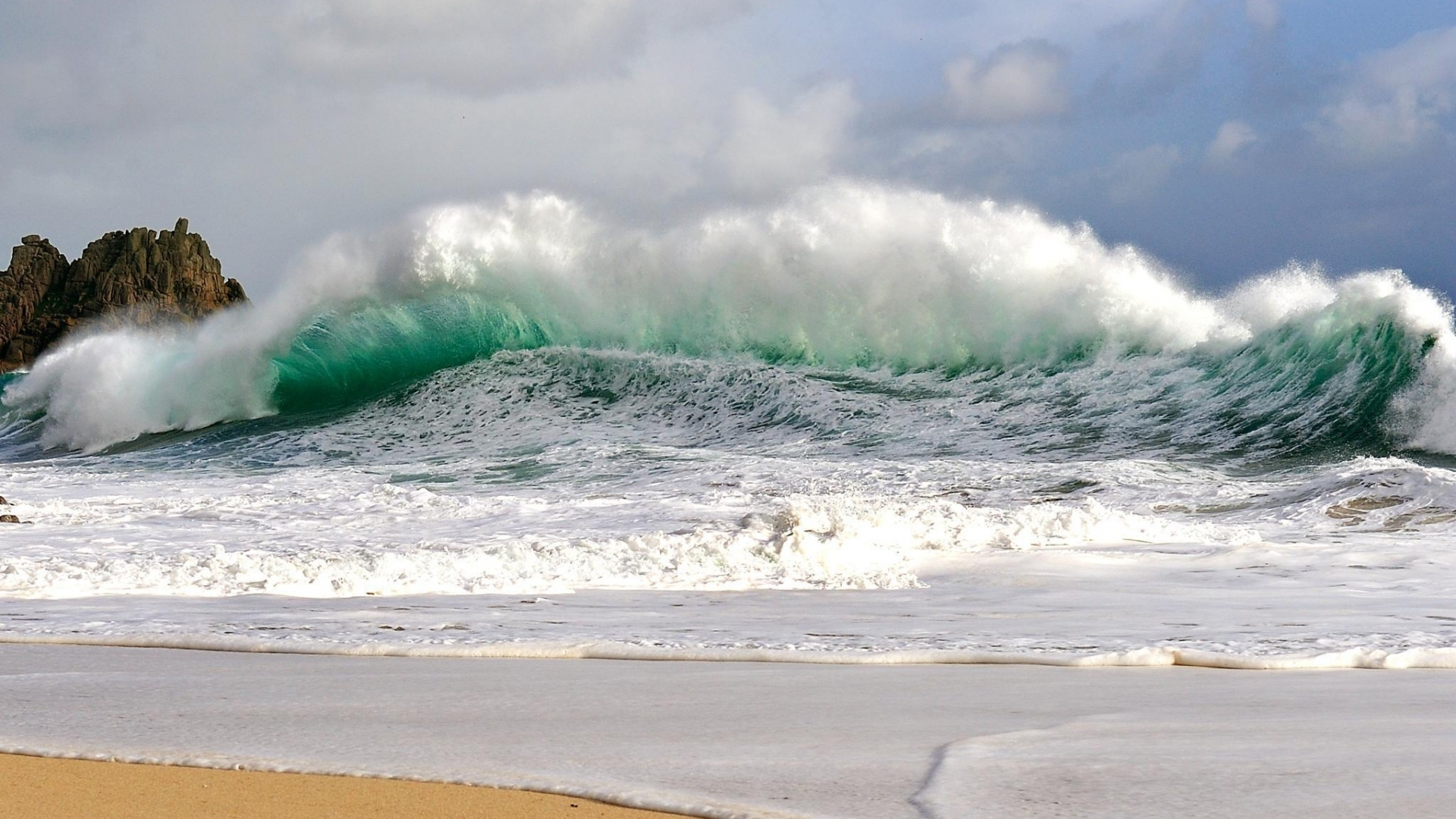 Awesome Cool Wave Wallpapers: Ocean Waves Crashing Wallpaper 1920x1080px