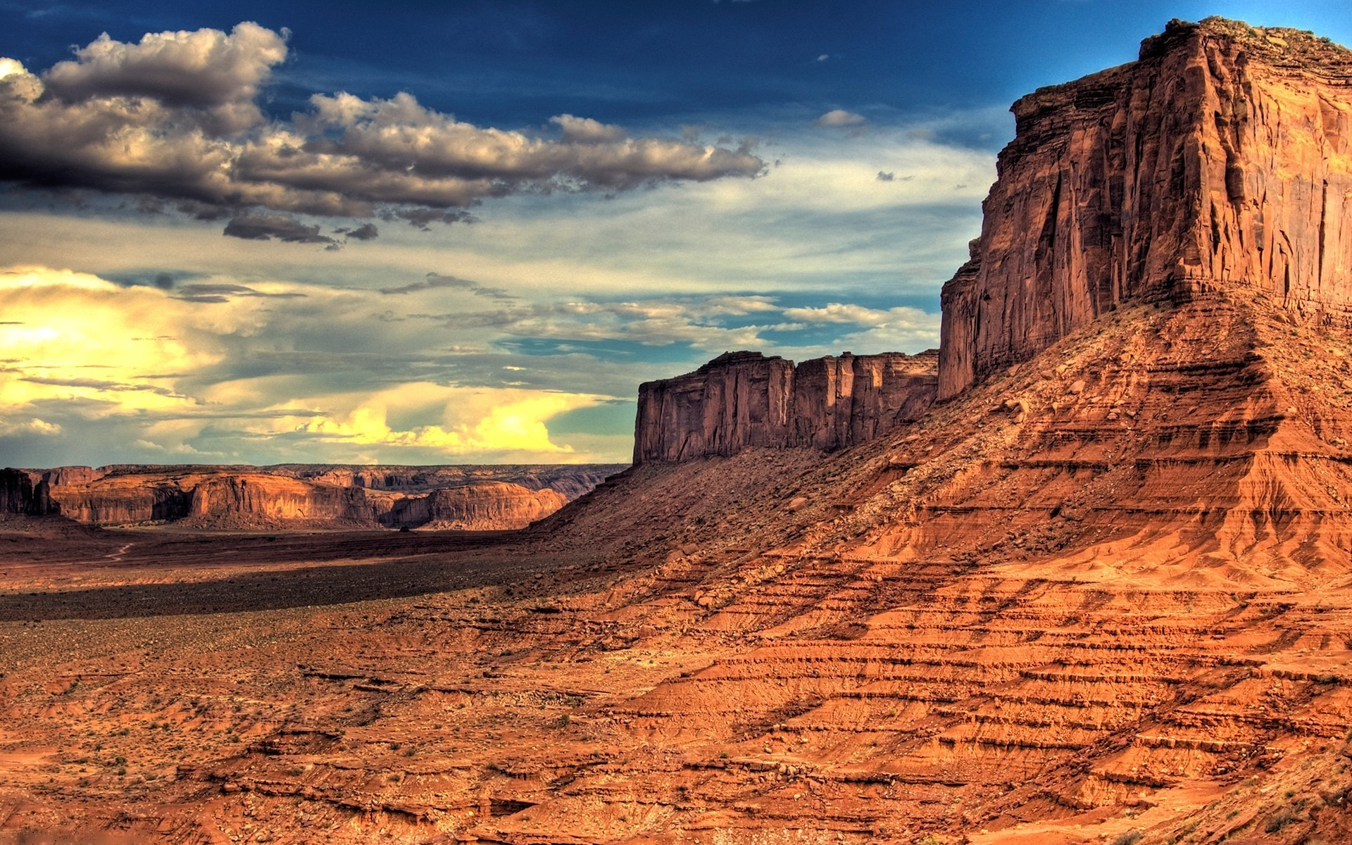 Awesome Desert Scape Hdr wallpaper