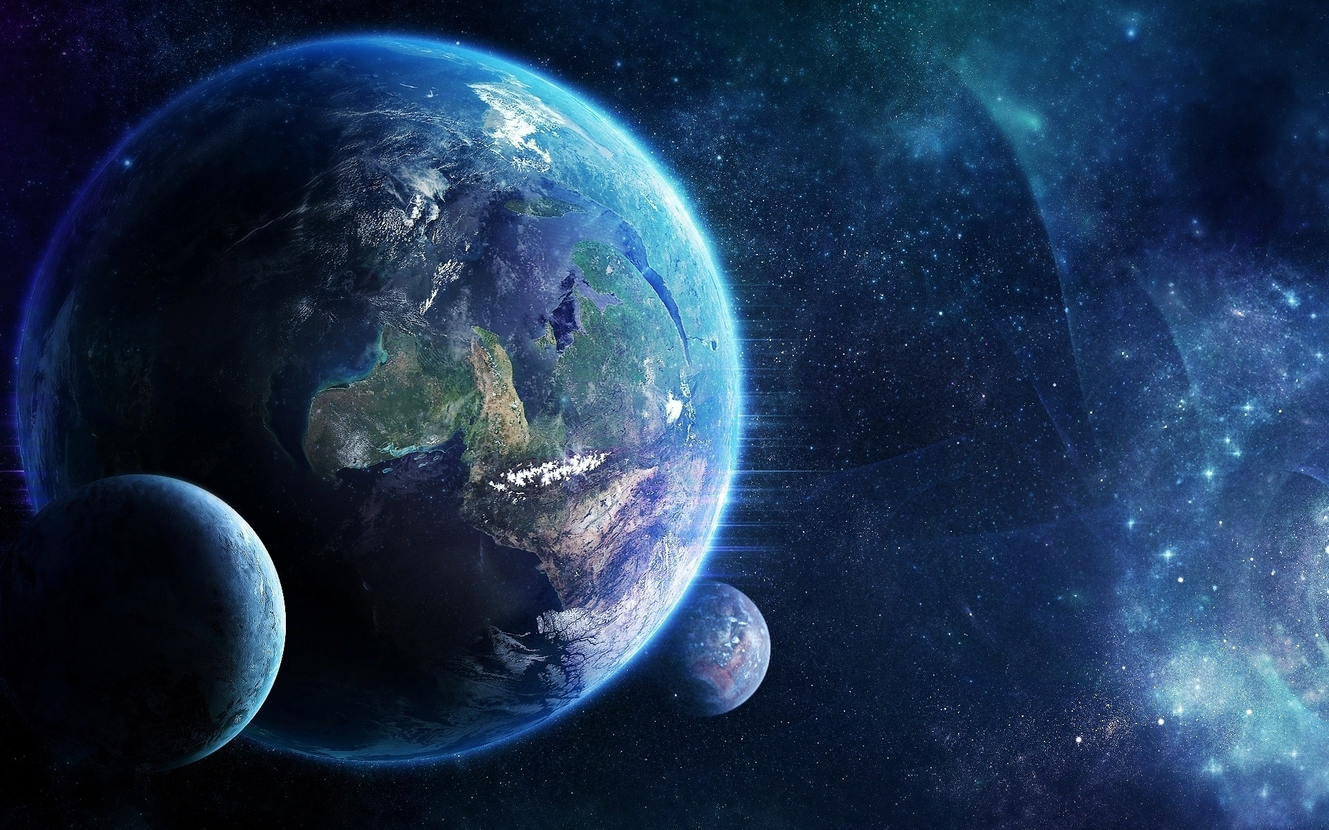 Awesome Earth and Moon Wallpaper