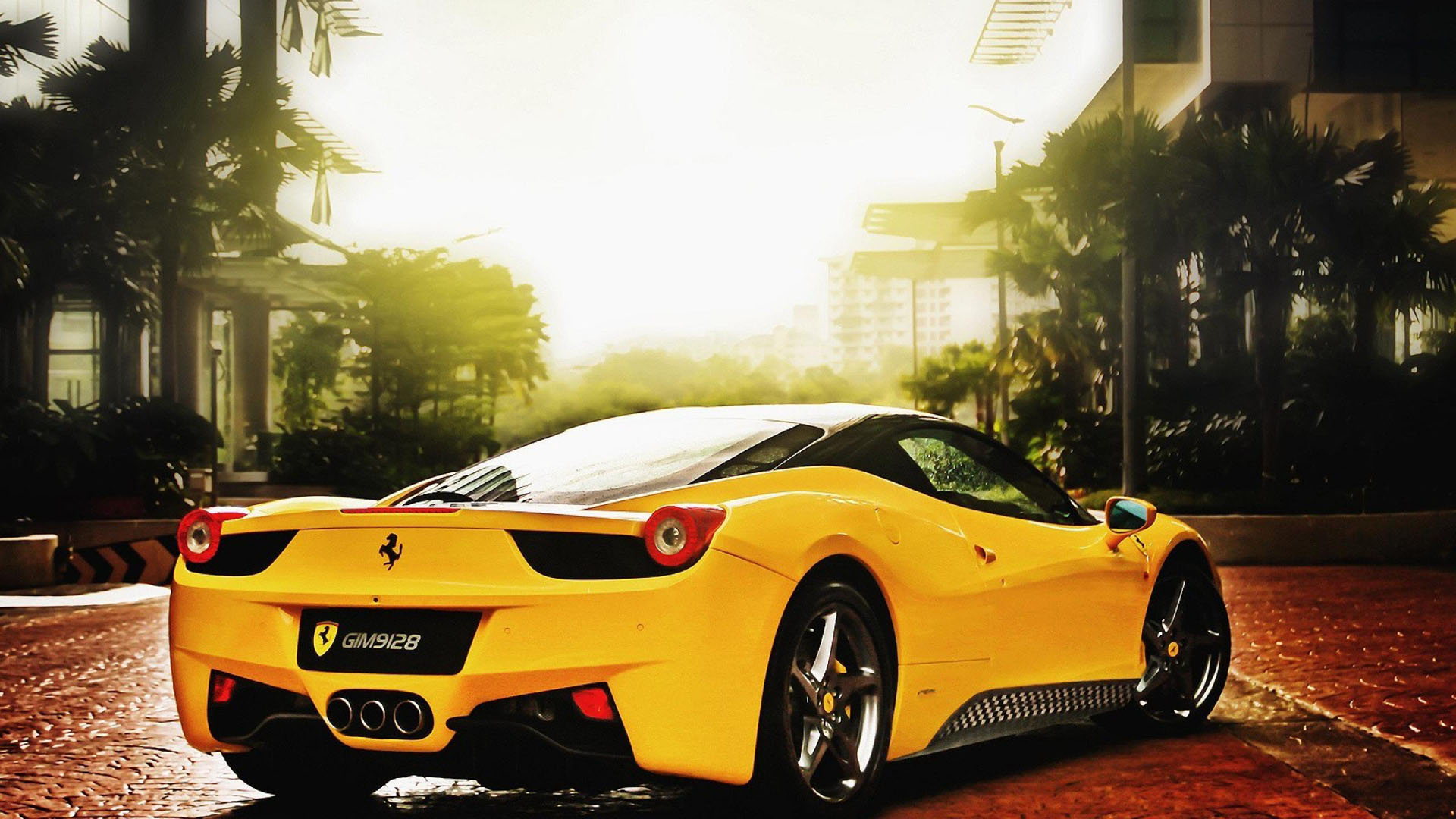 Download Ferrari Free Awesome Yellow Wallpaper Full Hd 1920x1080px