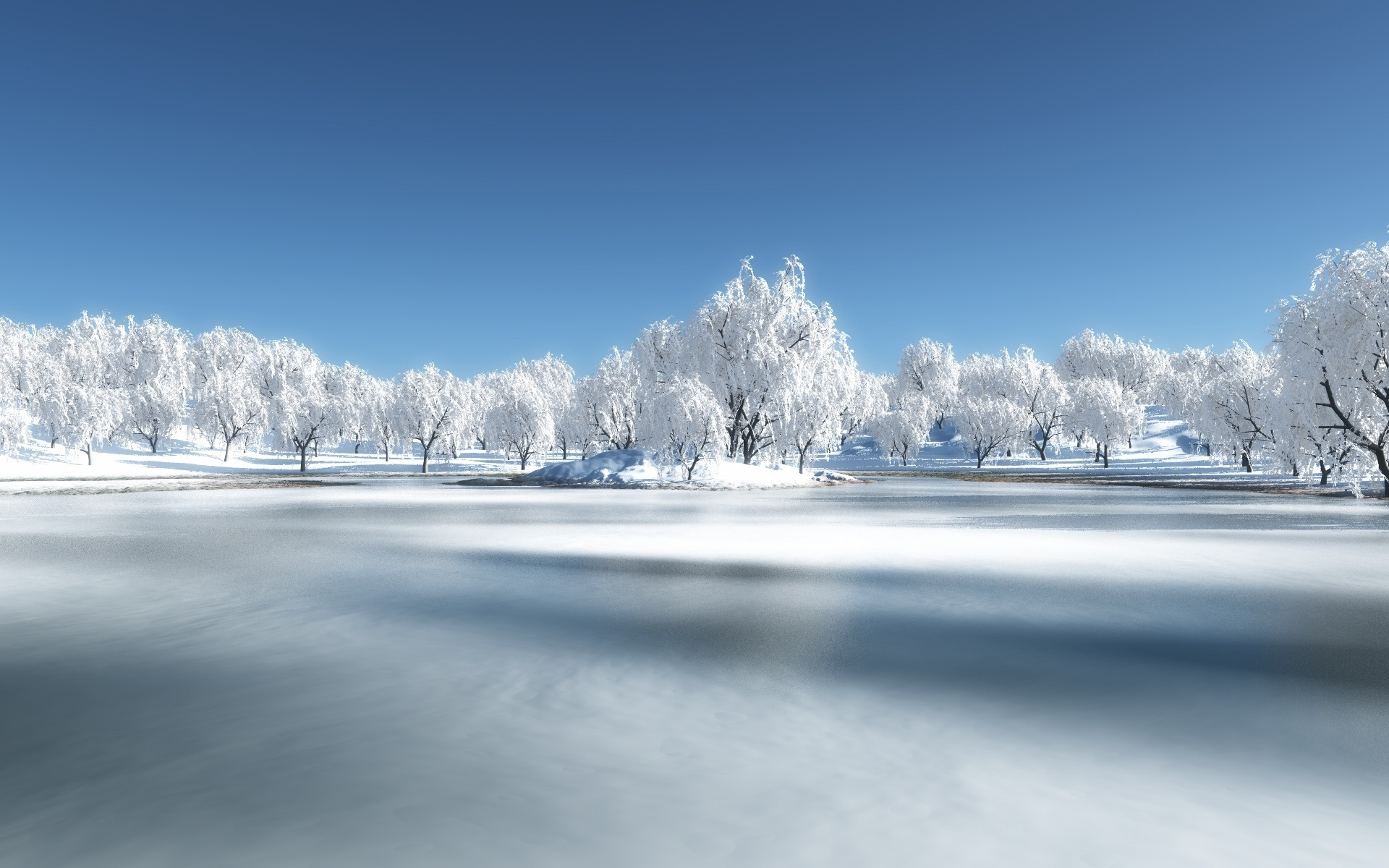 Awesome Frozen Lake Wallpaper