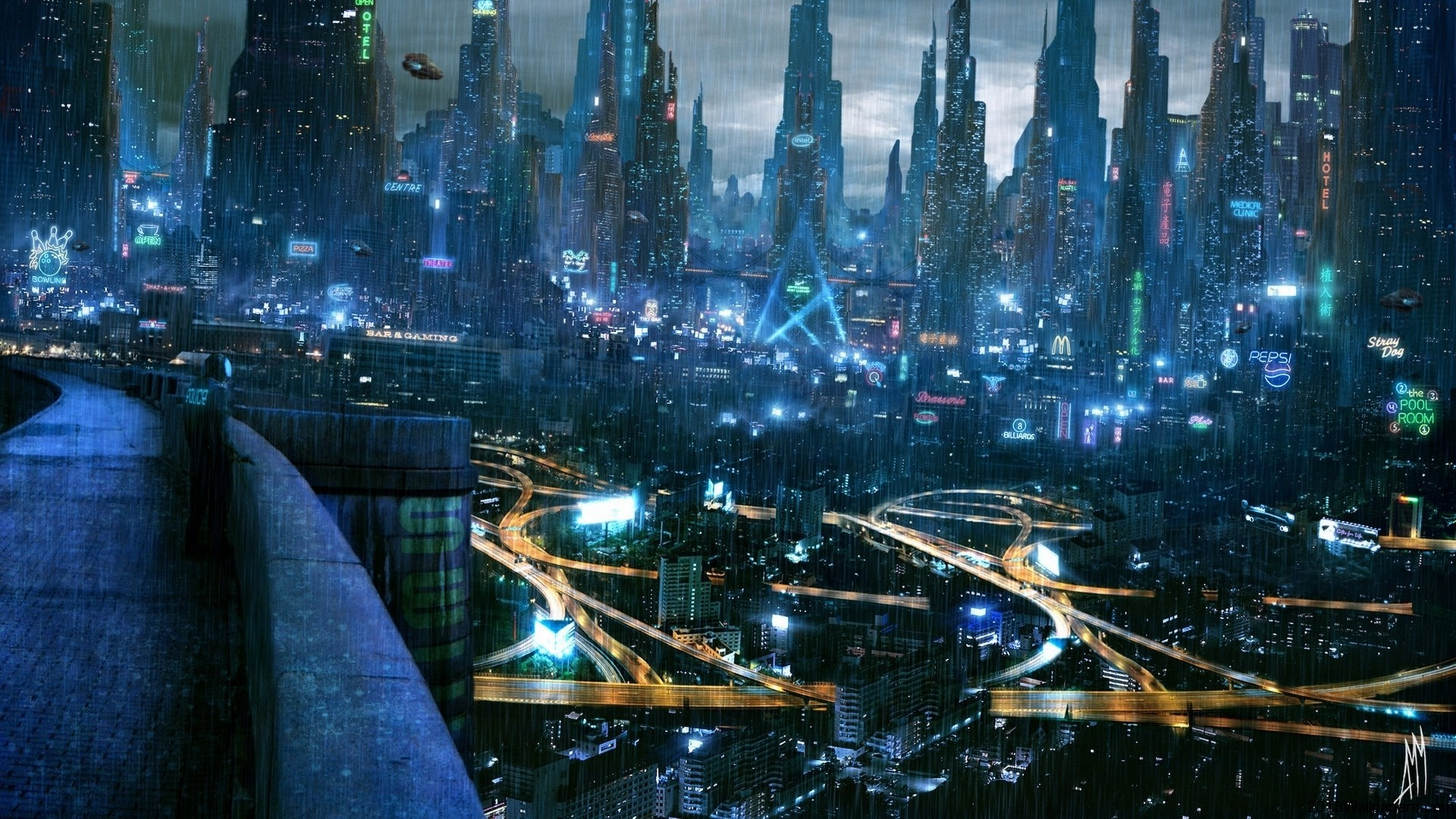 future city wallpaper